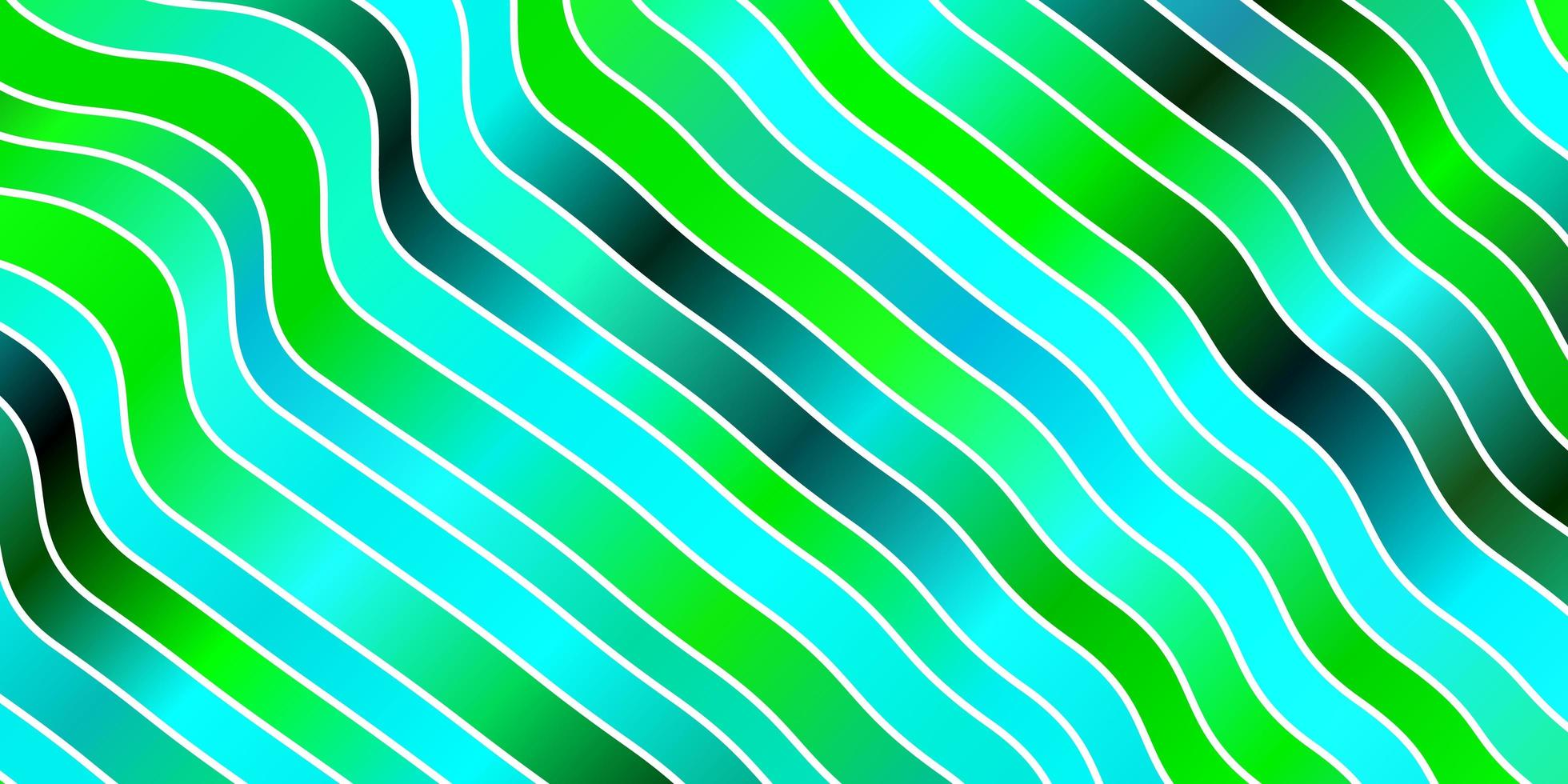 Light Blue, Green vector layout with curves.