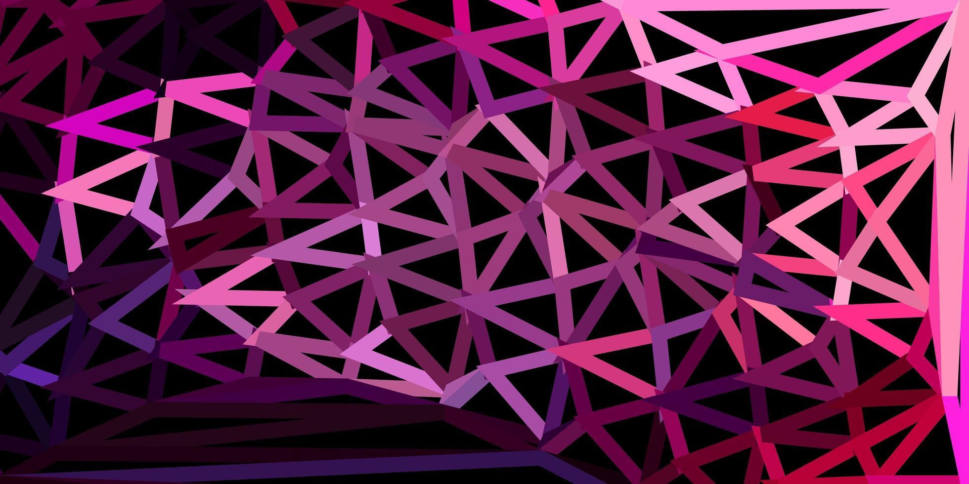 textura de triángulo de poli vector púrpura oscuro, rosa.