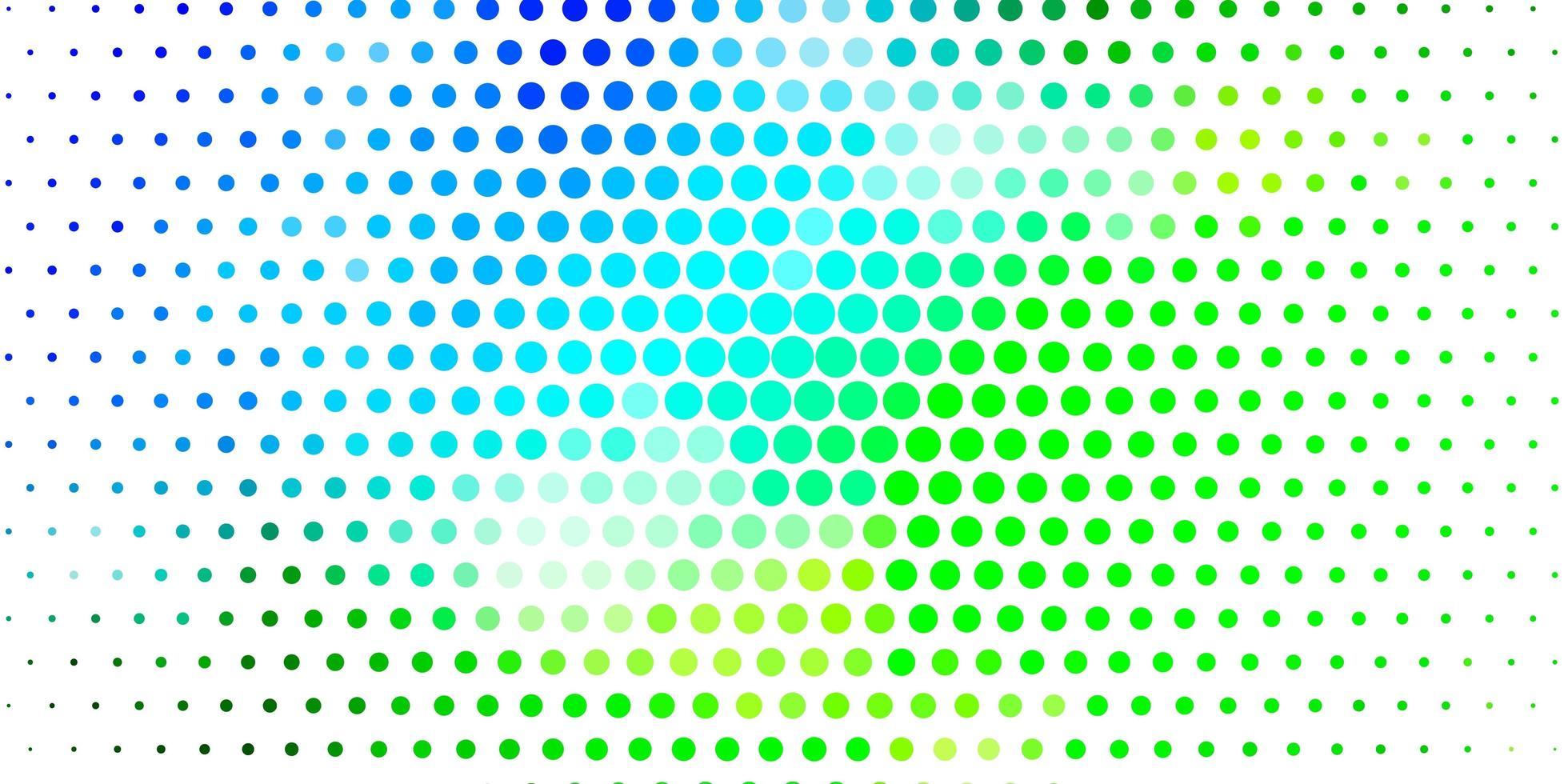 diseño de vector azul claro, verde con formas circulares.