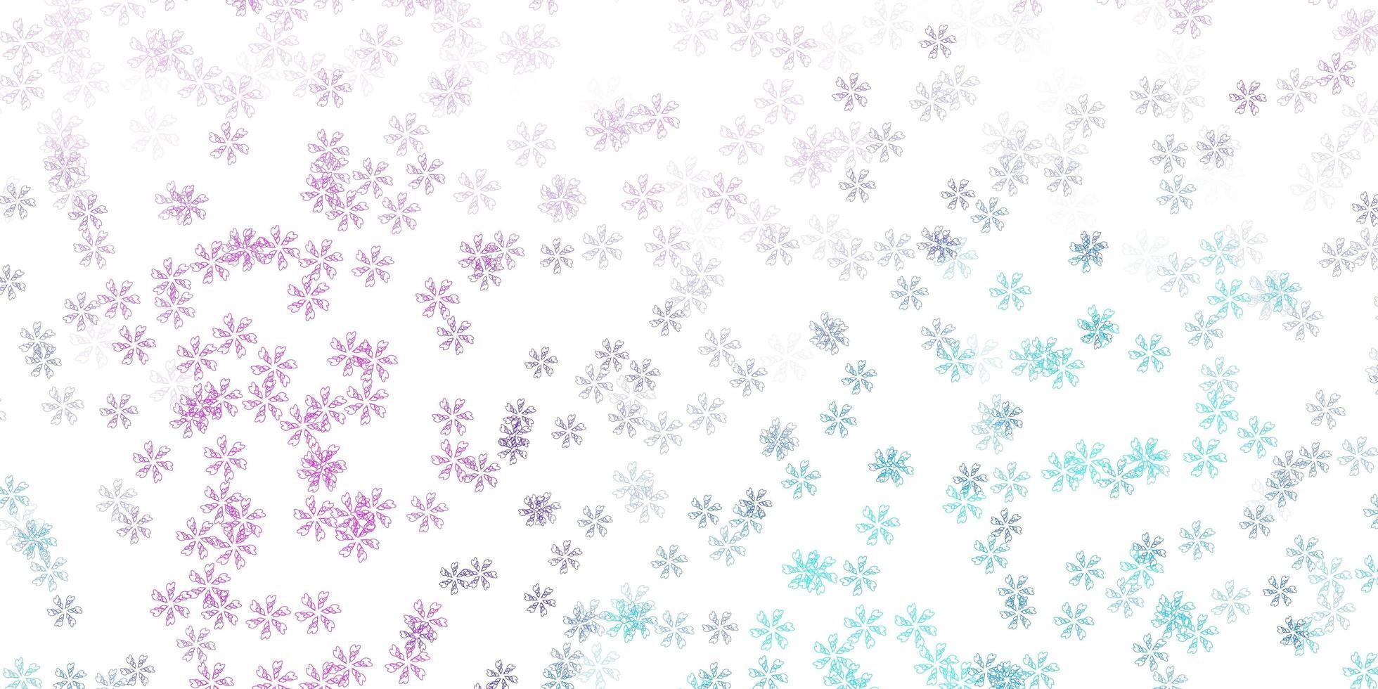 textura abstracta de vector rosa claro, azul con hojas.