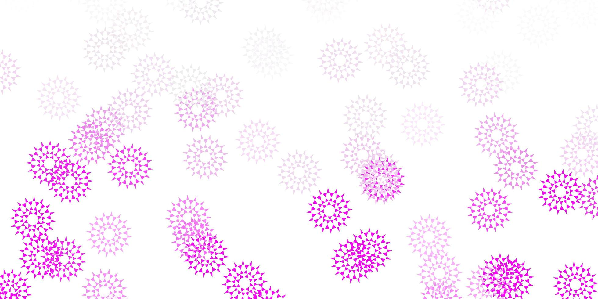 Light pink vector natural artwork with flowers.