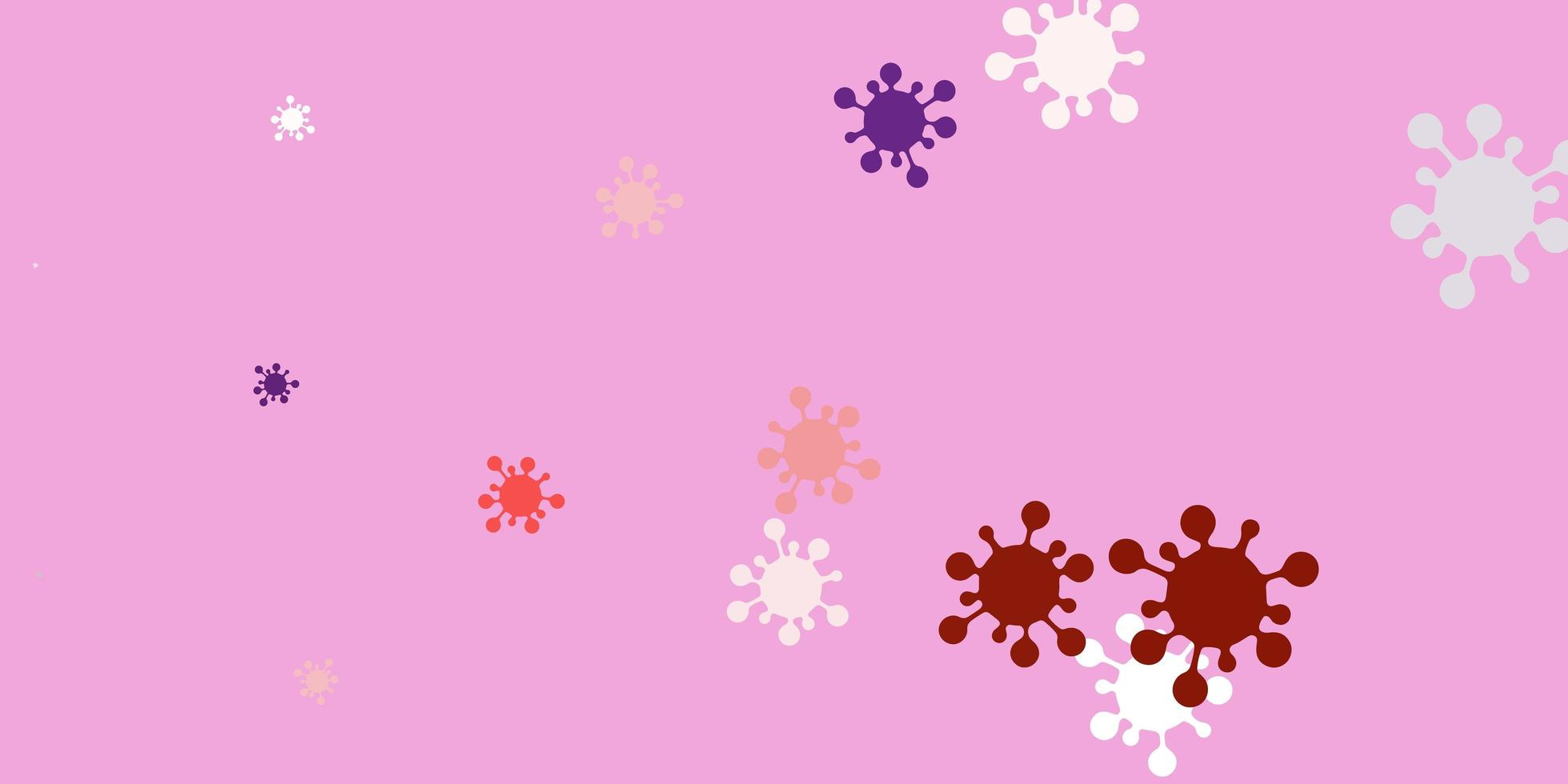 Light pink, red vector texture with disease symbols