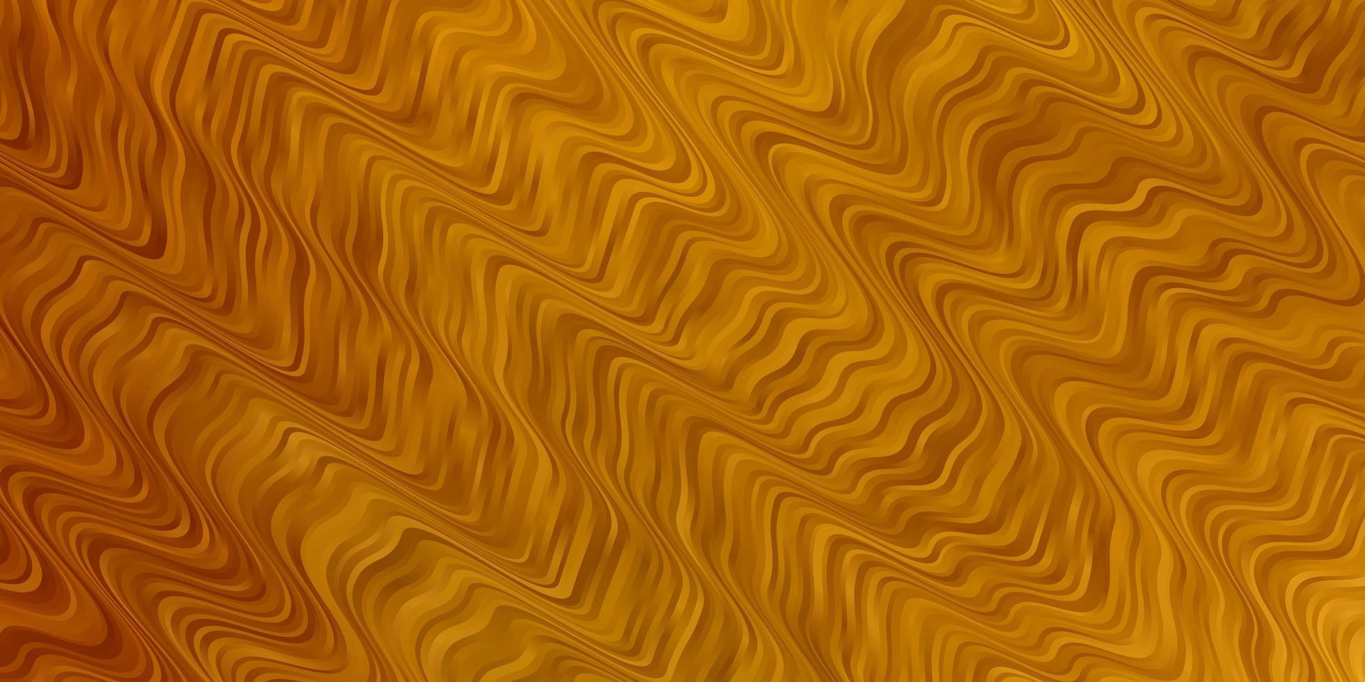 textura de vector amarillo oscuro con curvas.