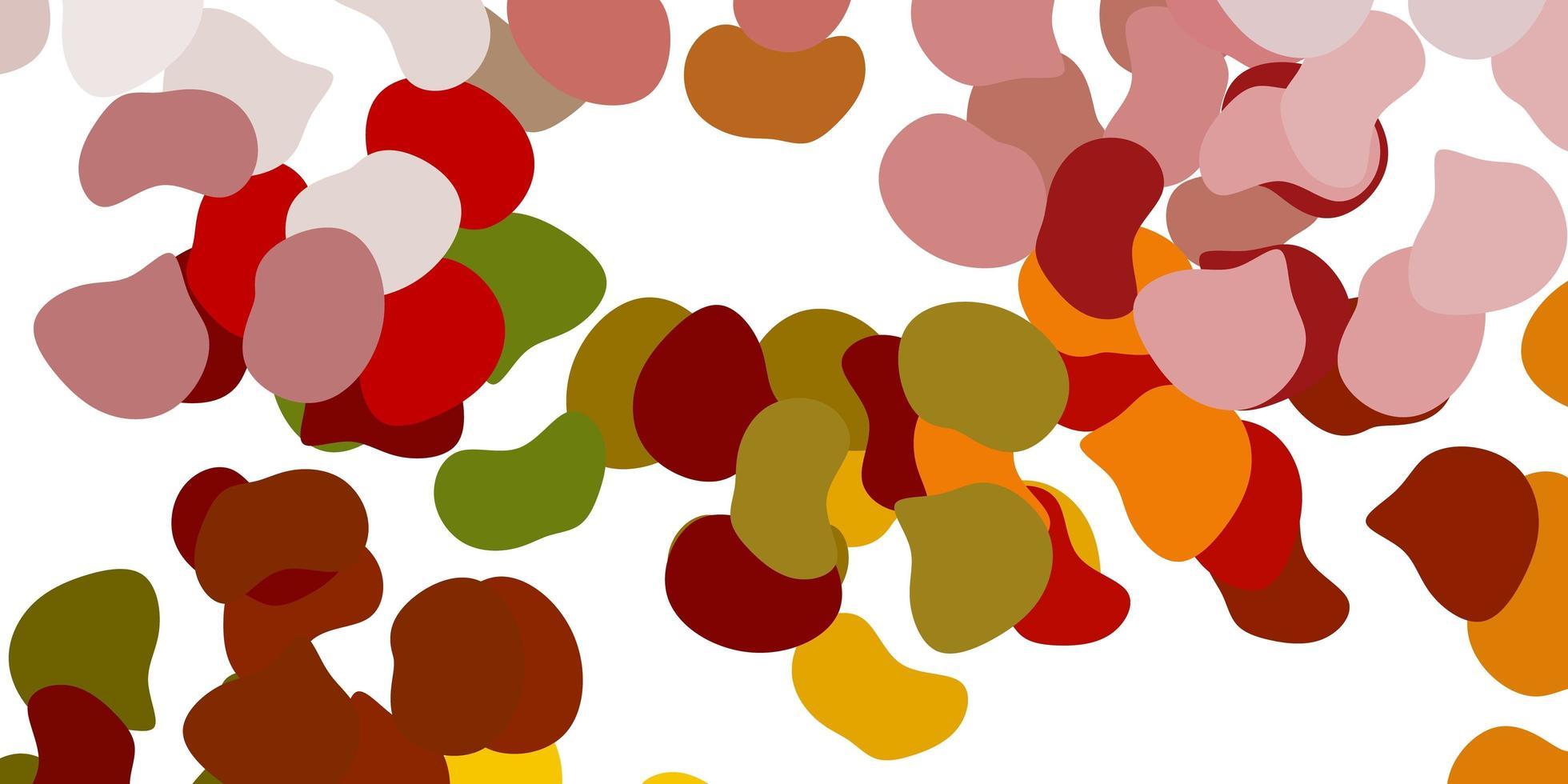 patrón de vector verde claro, amarillo con formas abstractas