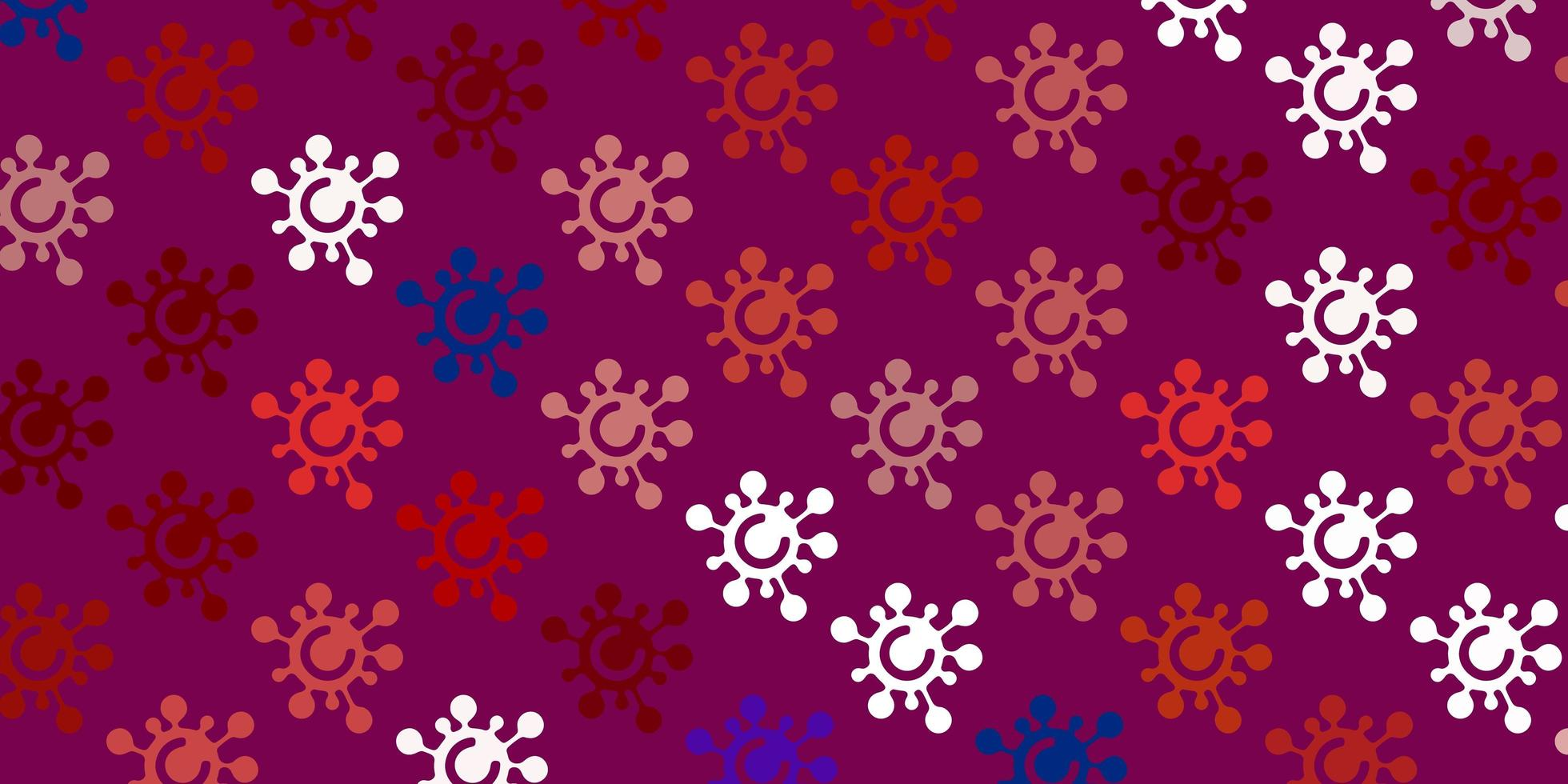 Light Blue, Red vector pattern with coronavirus elements.