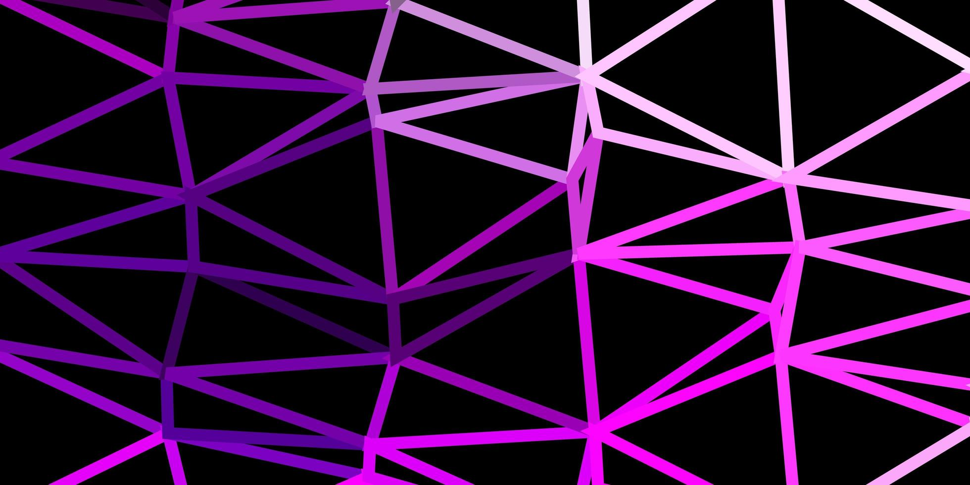 Light pink vector abstract triangle background.