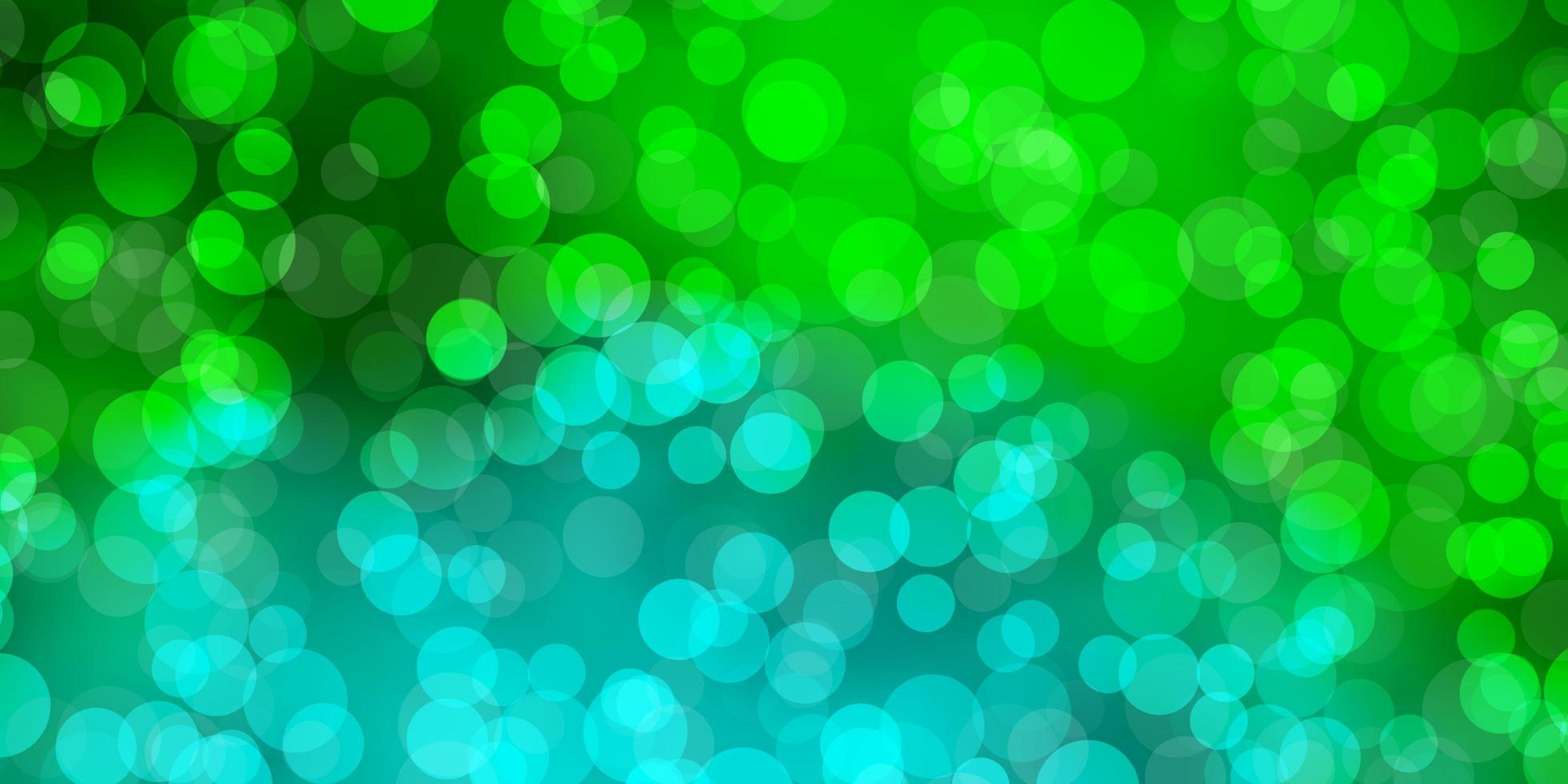 Fondo de vector verde claro con burbujas.
