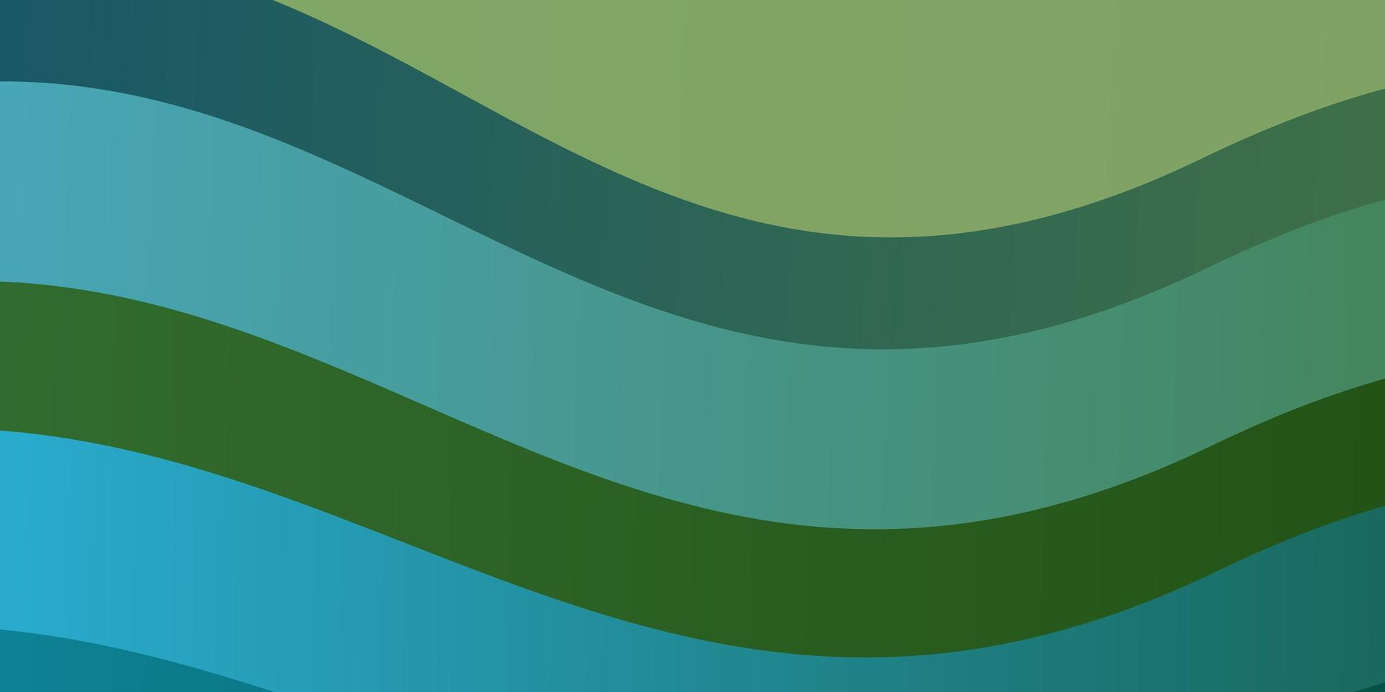 diseño de vector azul claro, verde con líneas torcidas.