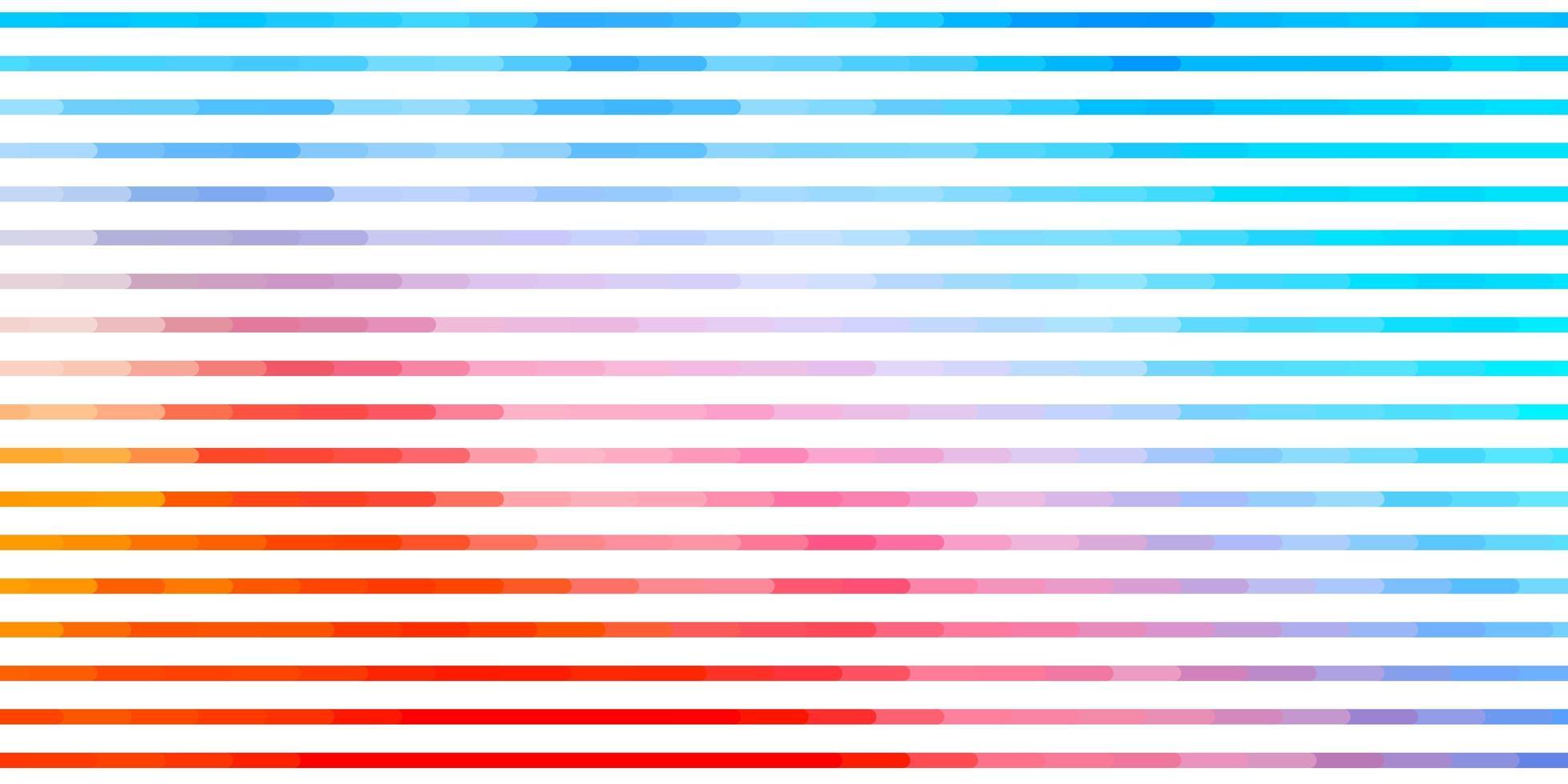 Telón de fondo de vector azul claro, rojo con líneas.