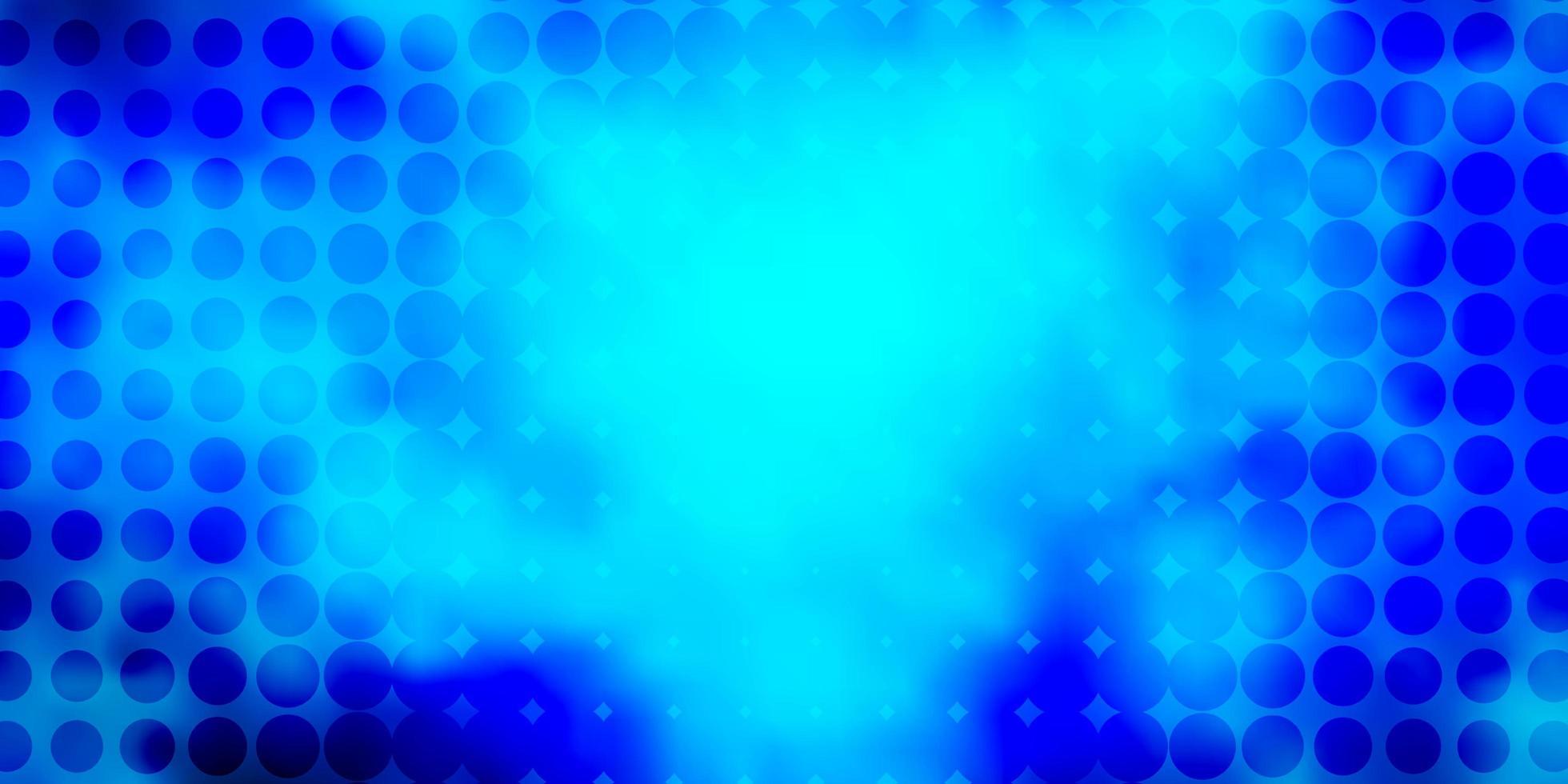Dark BLUE vector texture with disks.