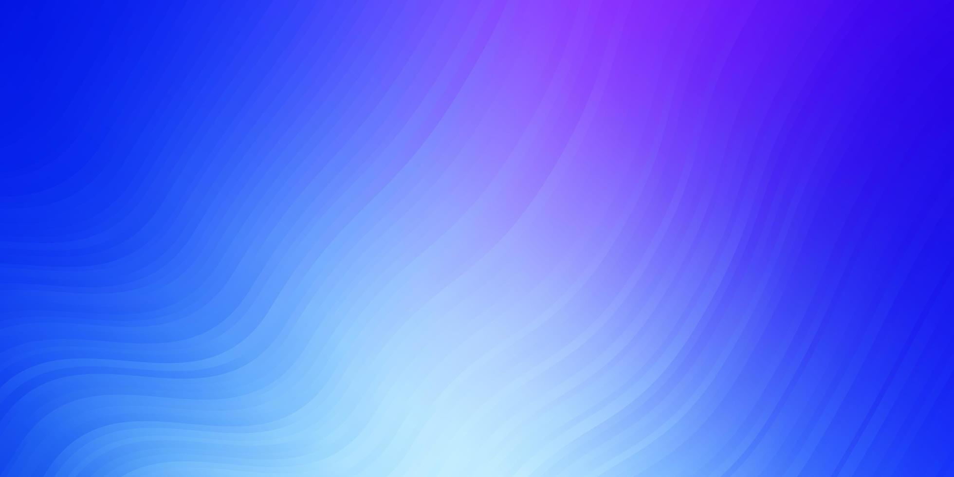 patrón de vector rosa claro, azul con líneas curvas.