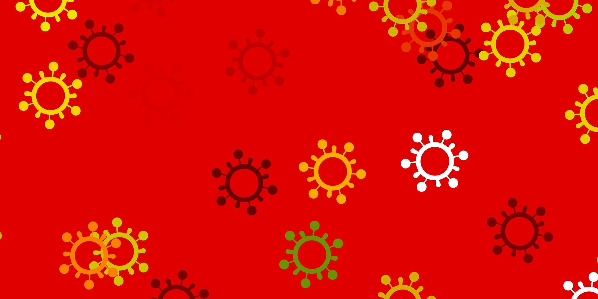 Light green, red vector pattern with coronavirus elements.