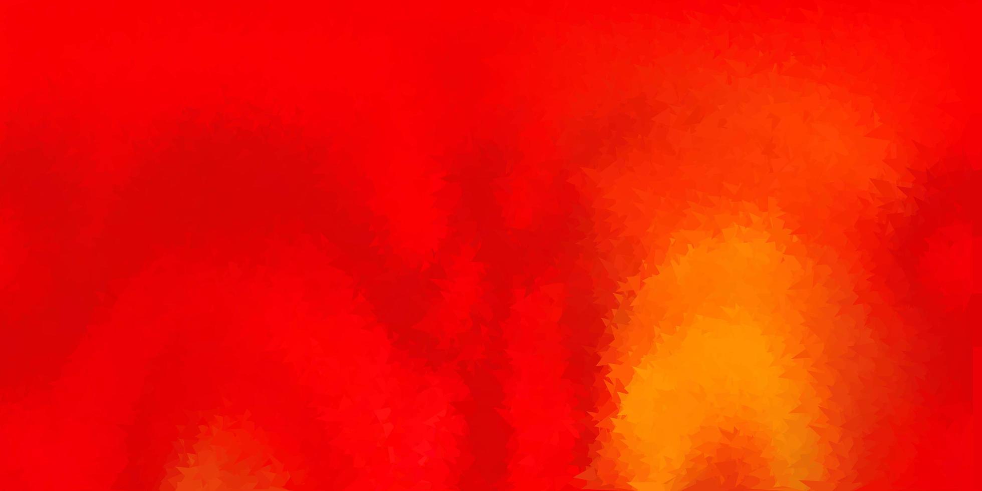 diseño poligonal geométrico rojo claro, amarillo del vector. vector