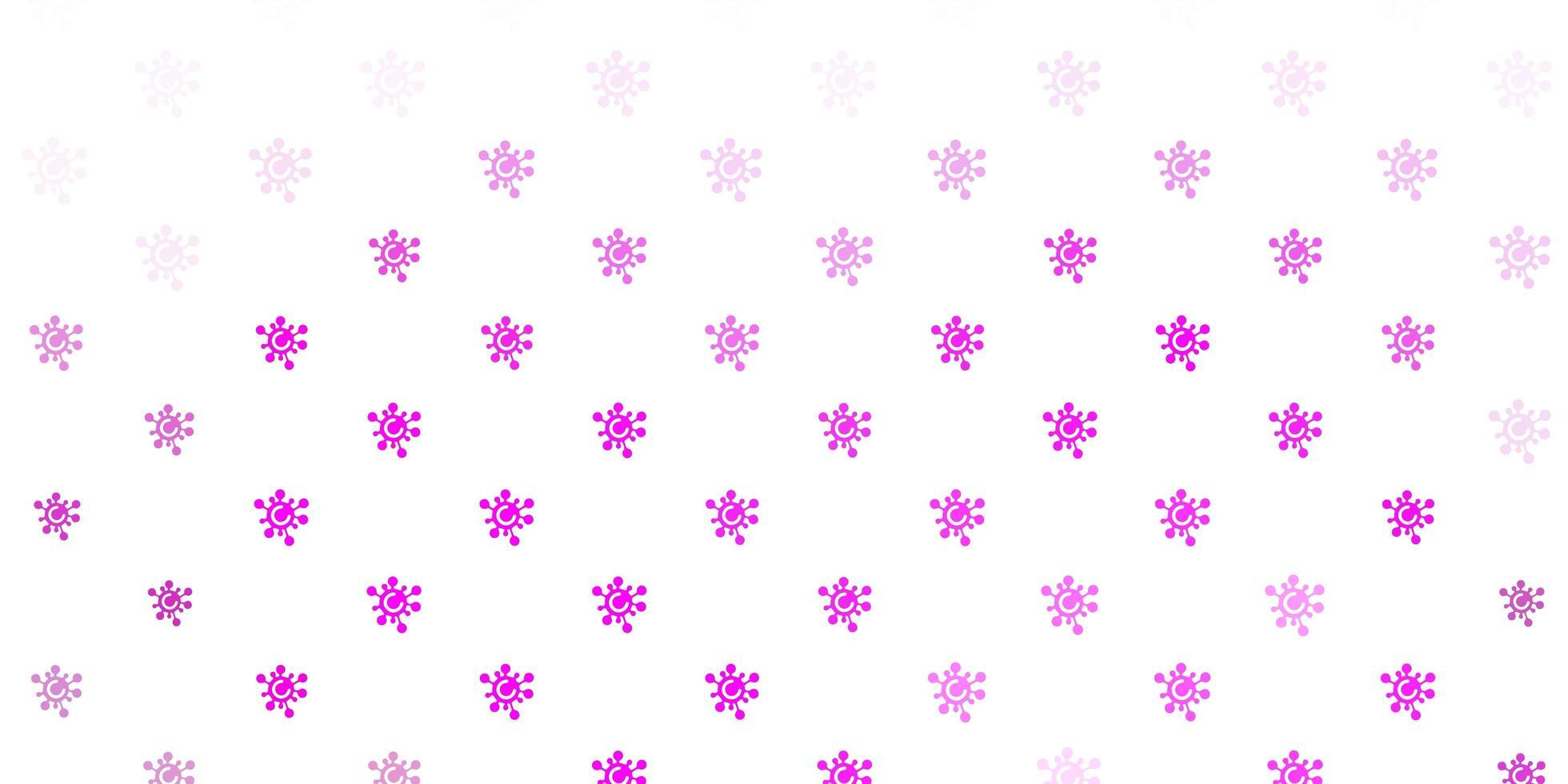 textura de vector rosa claro con símbolos de enfermedad