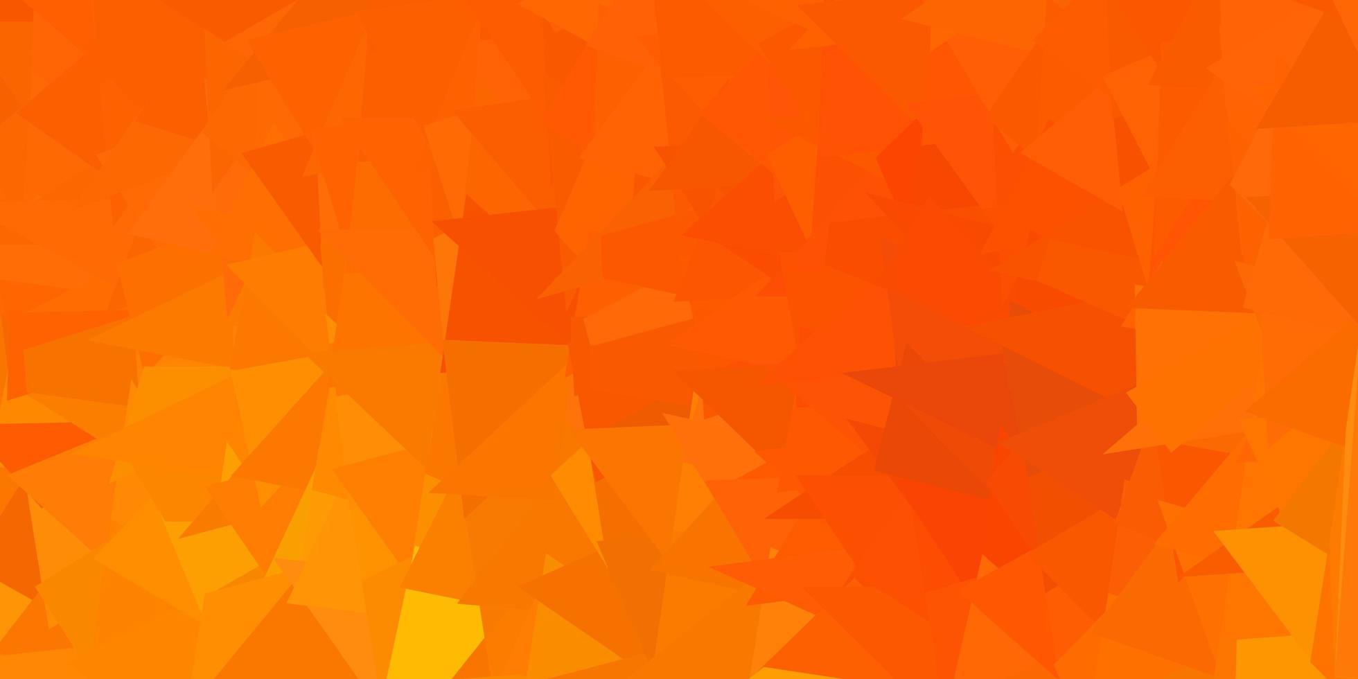 diseño de mosaico de triángulo vector naranja oscuro.