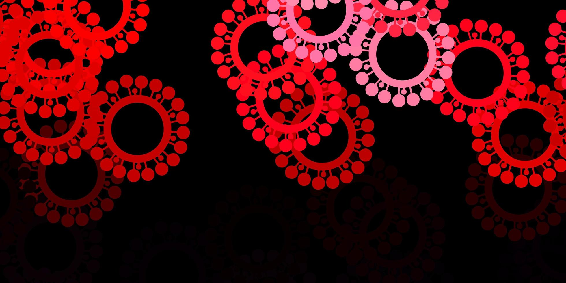 Dark pink, red vector template with flu signs.