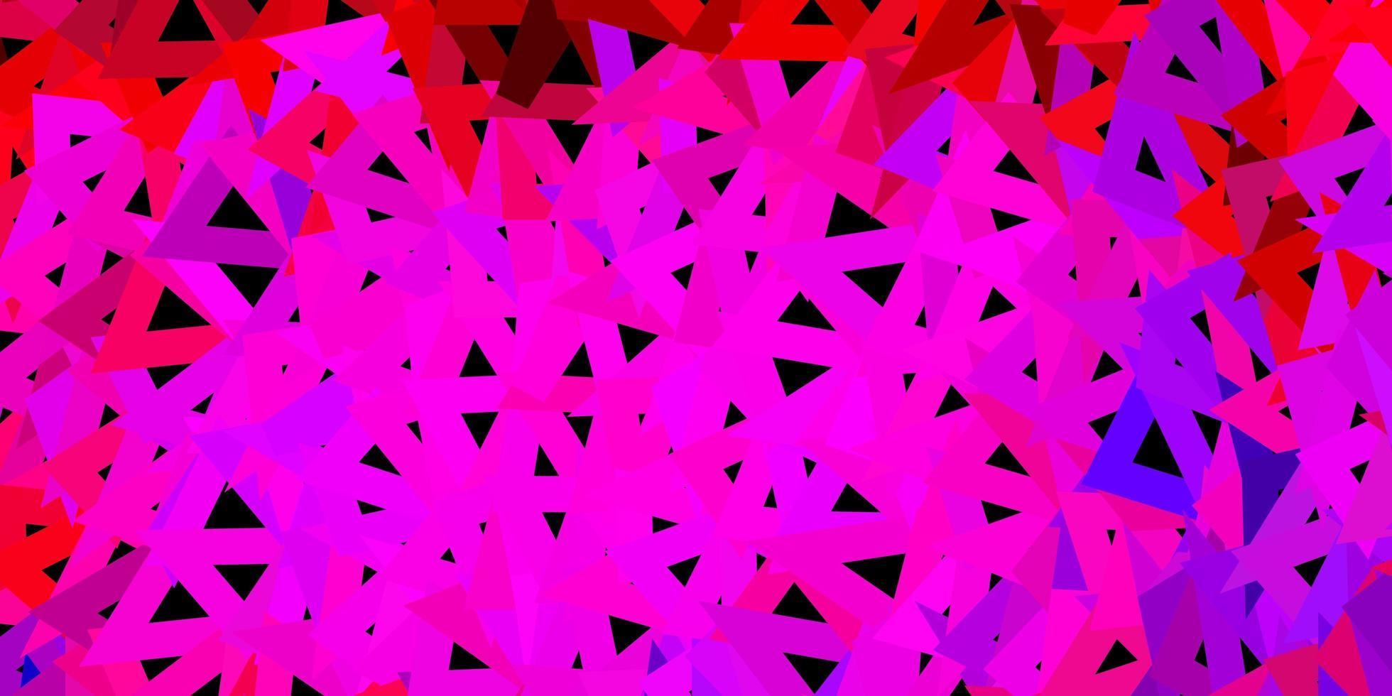 papel tapiz poligonal geométrico rosa claro, rojo vector. vector