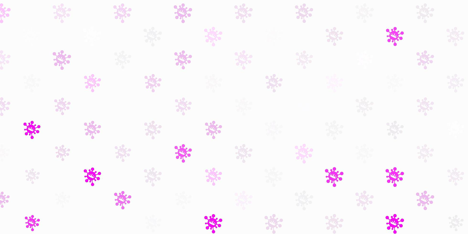 Light purple vector template with flu signs