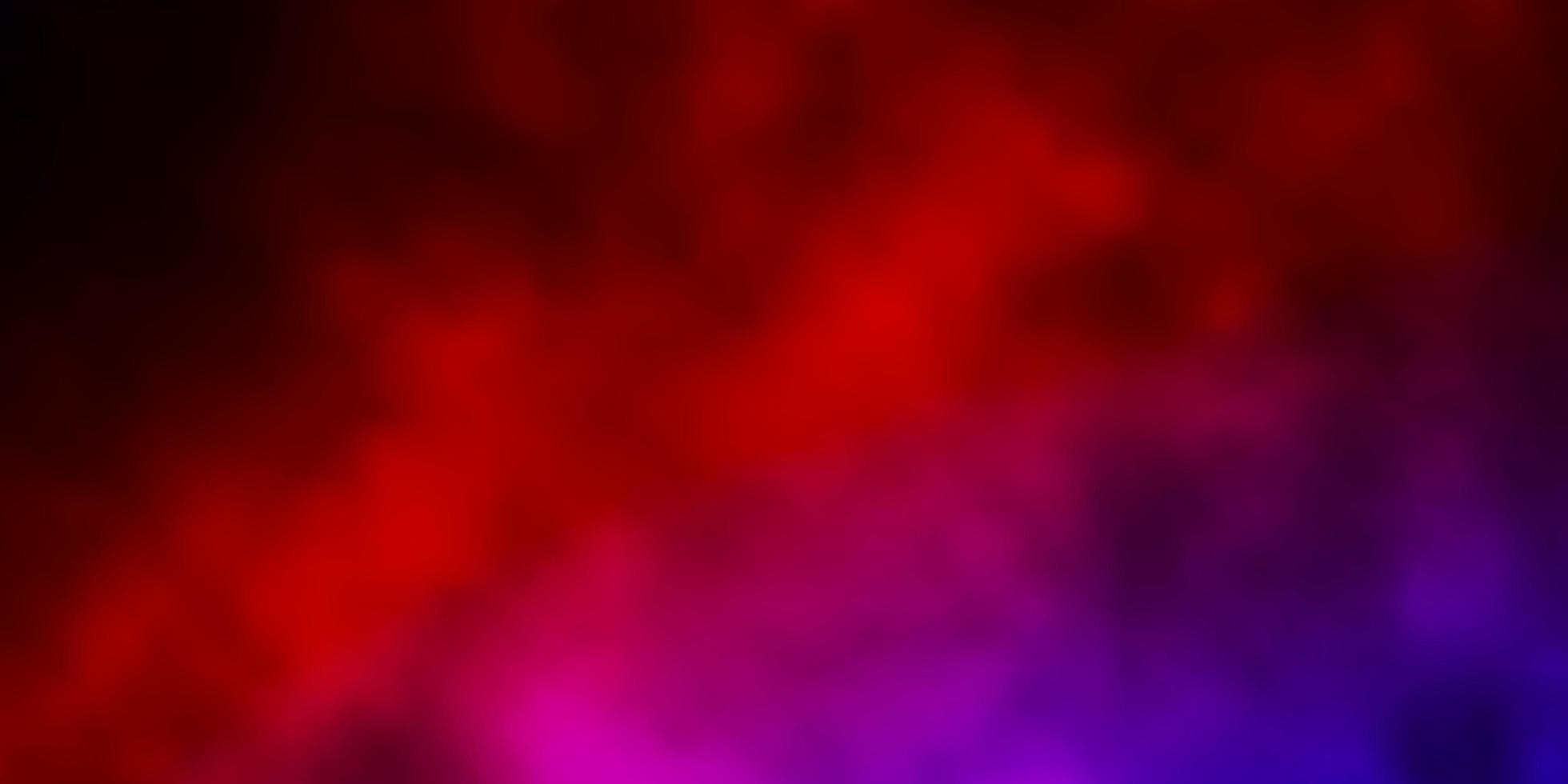 Dark Blue, Red vector texture with cloudy sky.