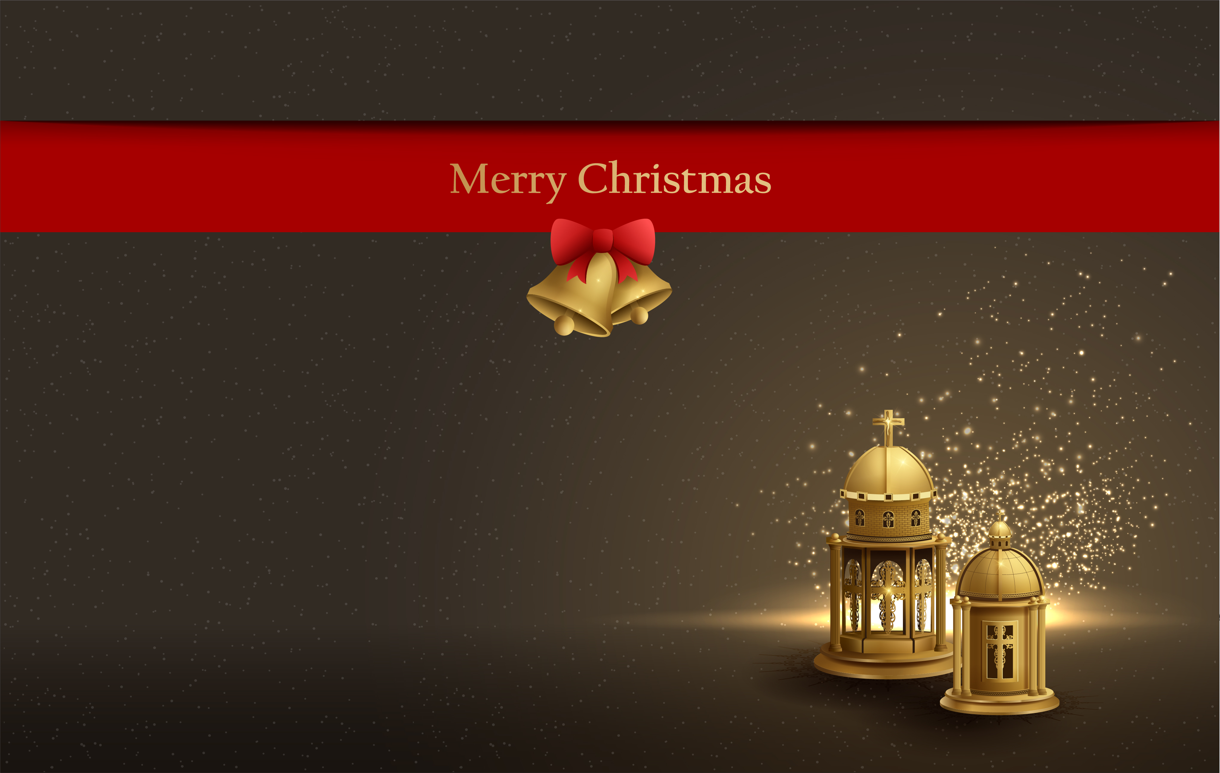 Christmas Card Design Background With Golden Church Lanterns Download Free Vectors Clipart Graphics Vector Art