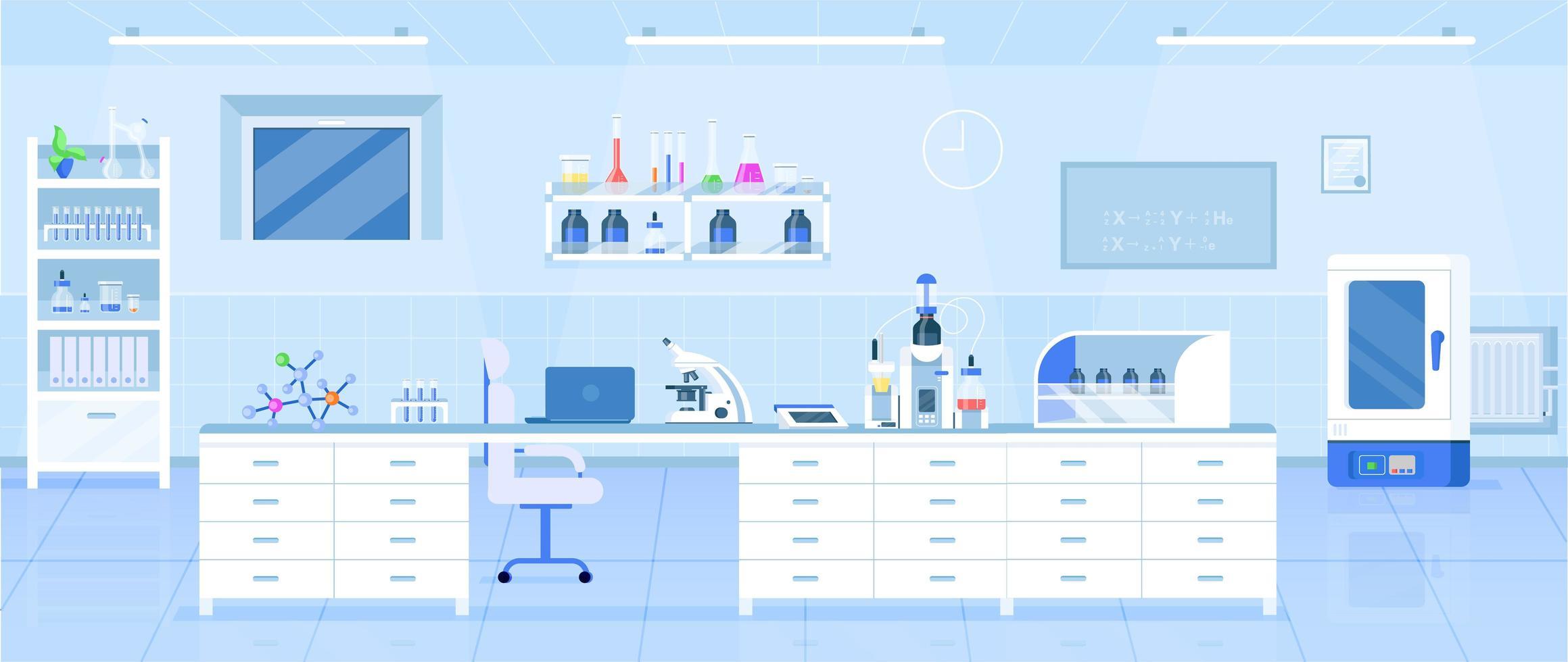Chemistry laboratory illustration vector