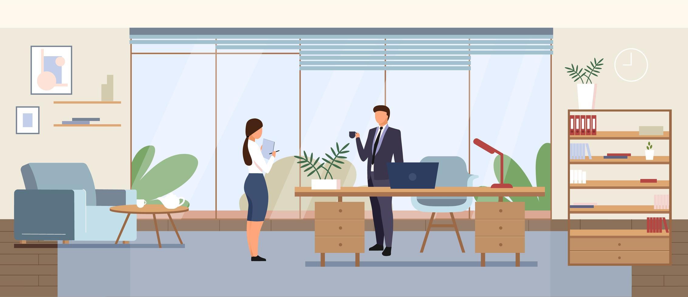 Business office vector illustration