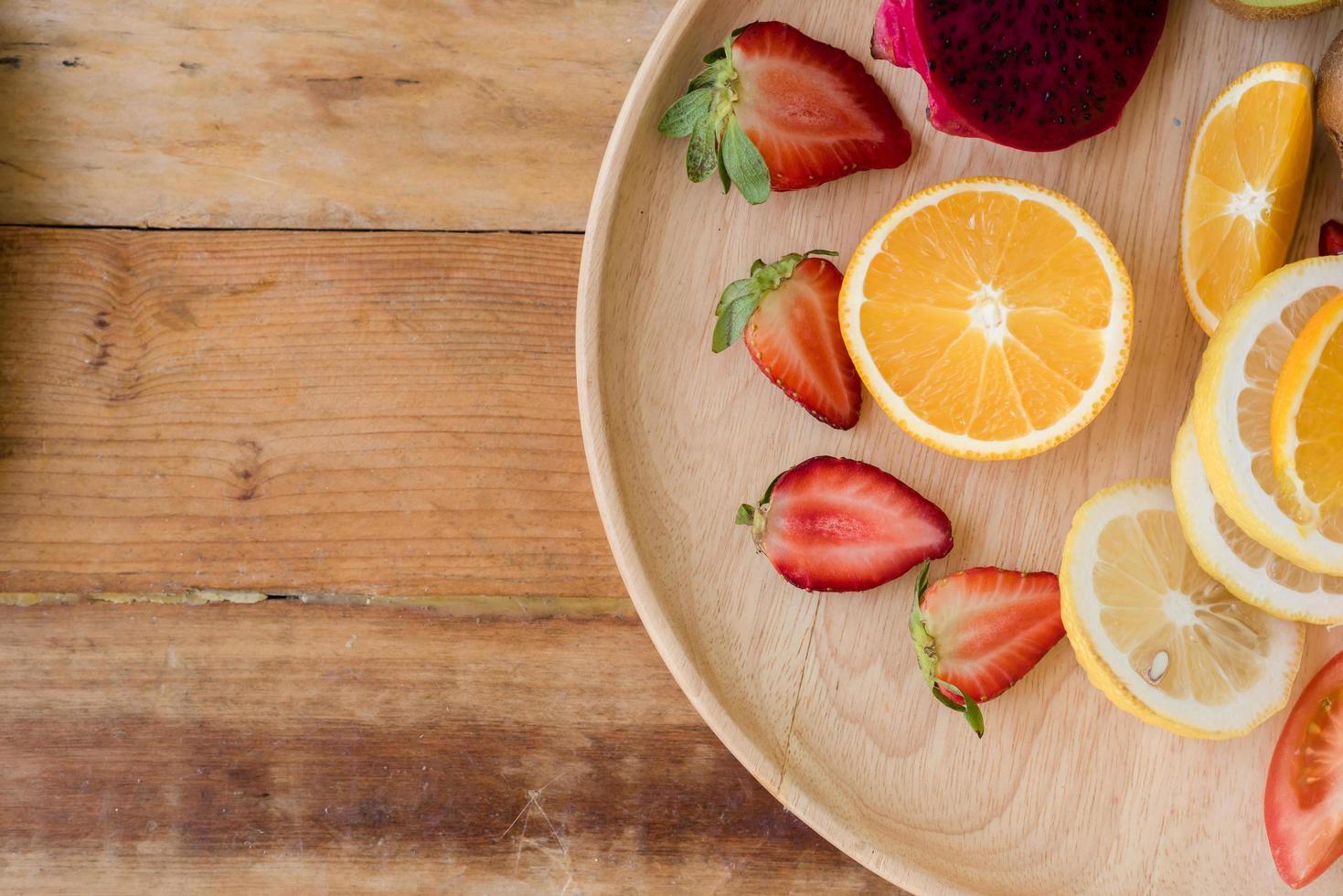 frutas y verduras frescas foto