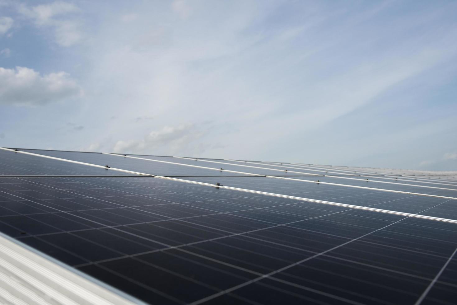 Solar cell farm power station photo