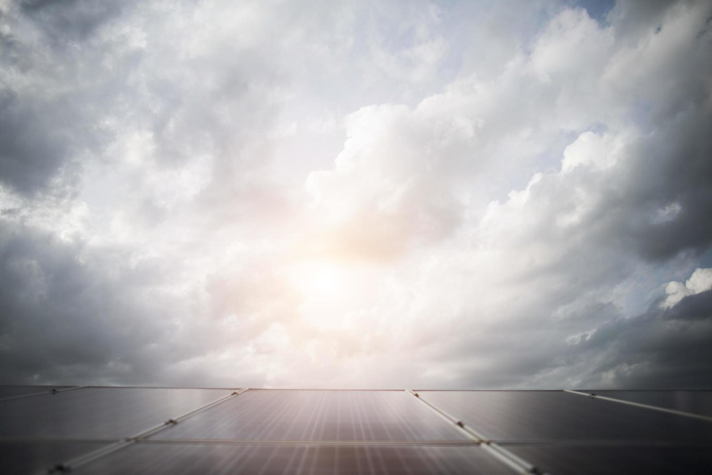 Solar cell in bright sun background photo
