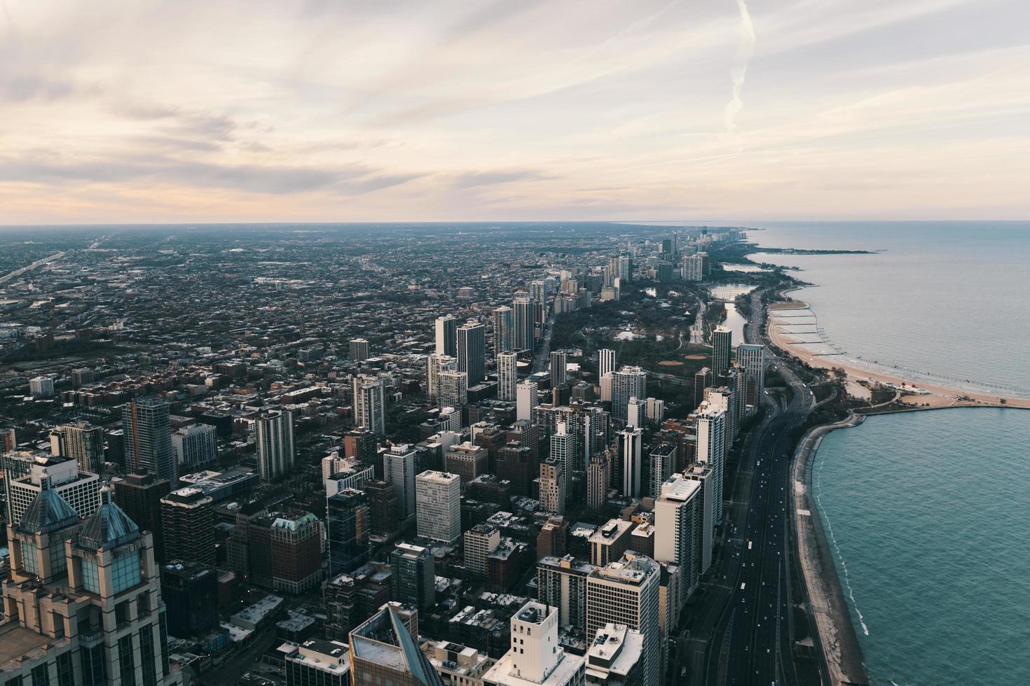 fotografía aérea de la ciudad de nueva york foto