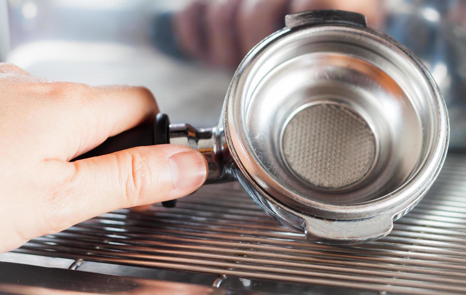 molinillo de café vacío foto