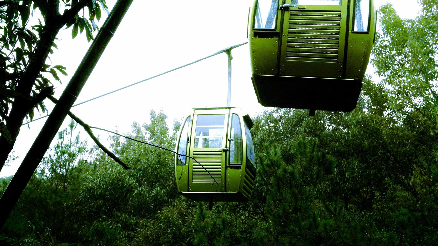 Changshu City, Jiangsu Province, October 25, 2020 - Cable car in the mountains photo