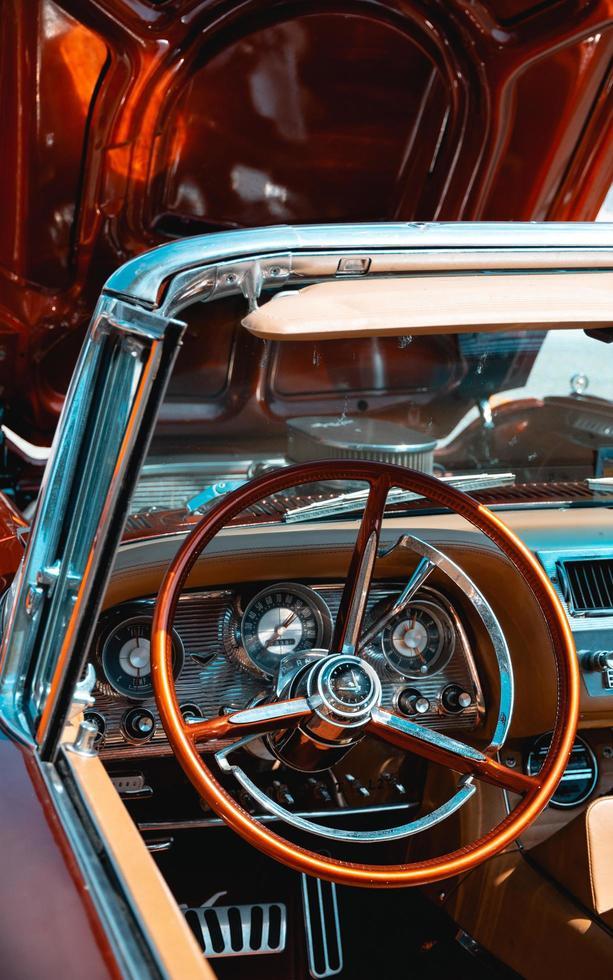 Englewood, Estados Unidos, 2020 - Primer plano de un coche clásico foto