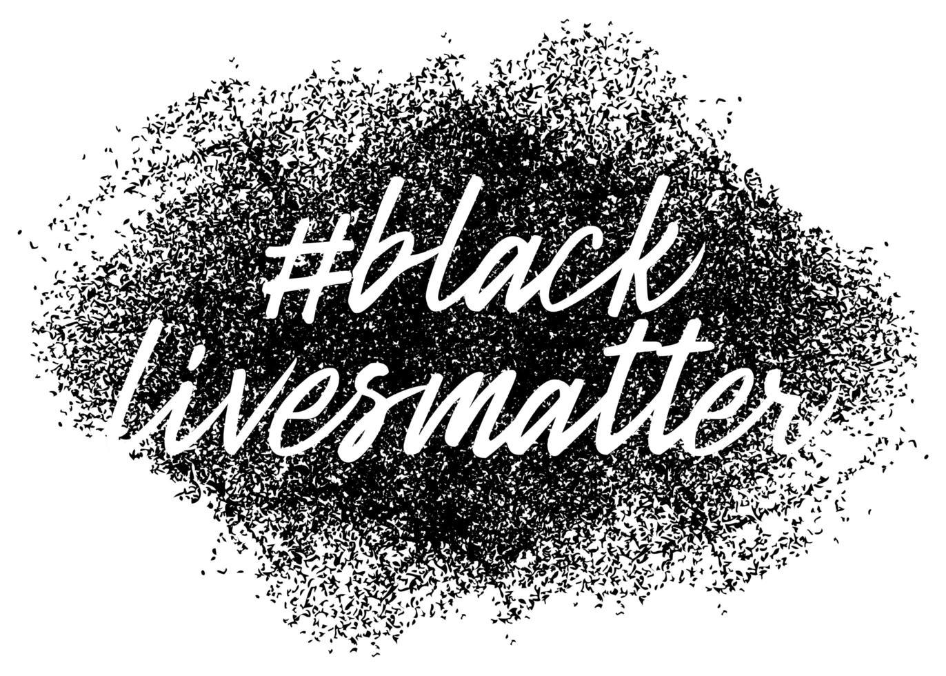 las vidas negras importan. pancarta de protesta sobre los derechos humanos de los negros en américa. ilustración vectorial. vector