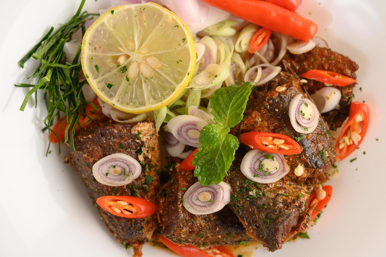 ensalada de sardina picante foto