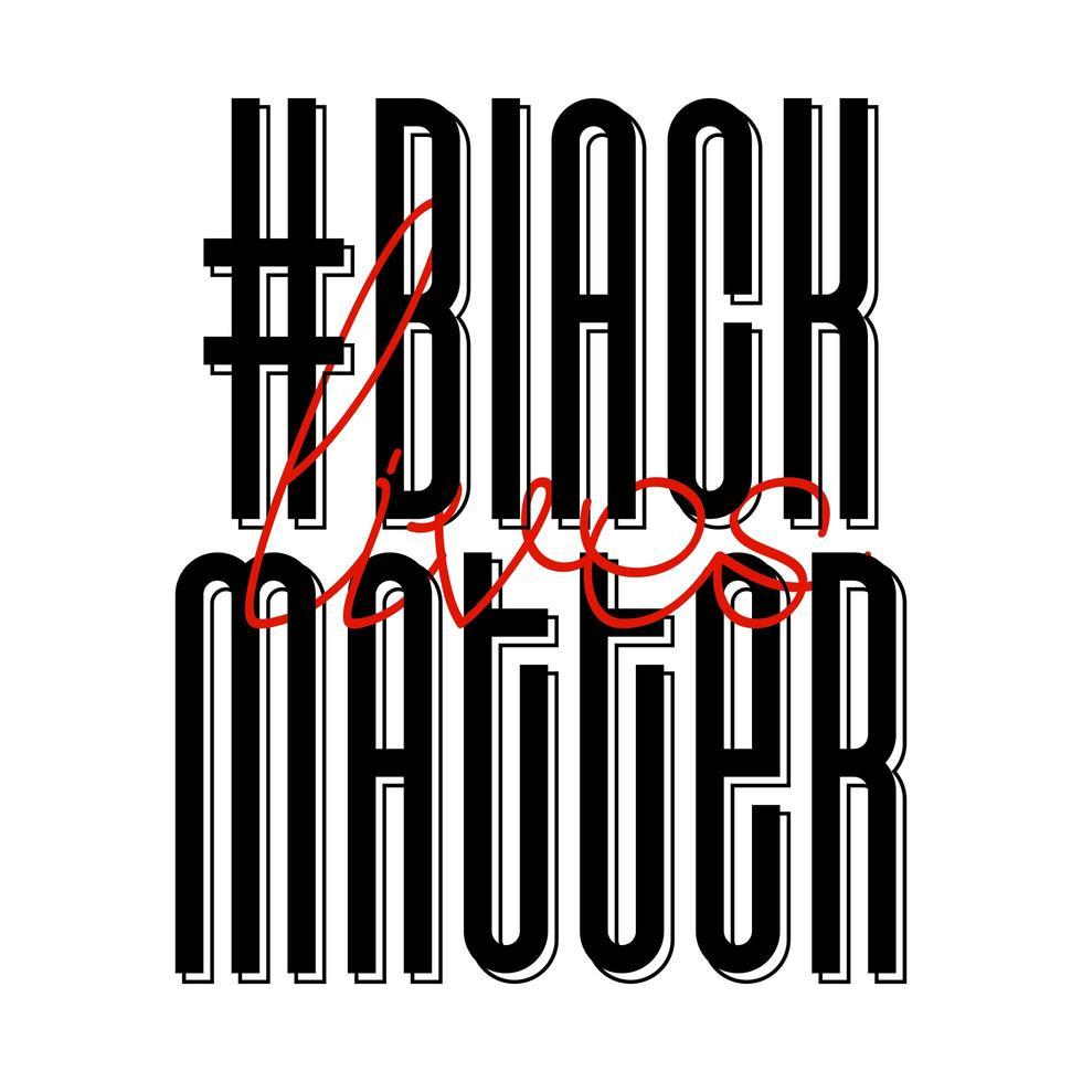 No puedo respirar pancarta de protesta sobre los derechos humanos de los negros en Estados Unidos. ilustración vectorial. cartel de icono y símbolo. vector