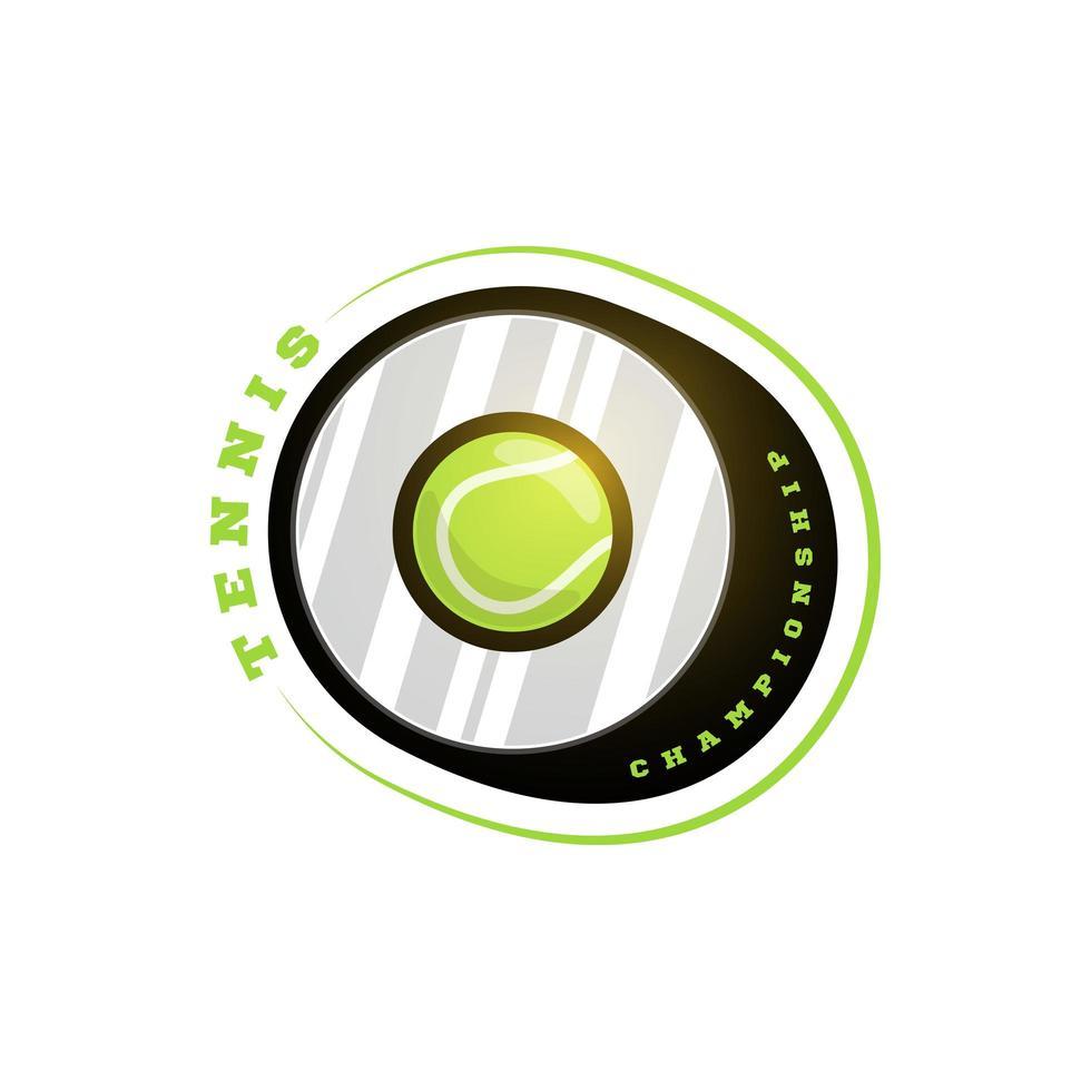 tenis vector logo circular. tipografía profesional moderna deporte estilo retro vector emblema y plantilla de diseño de logotipo. tenis logo colorido sobre fondo blanco