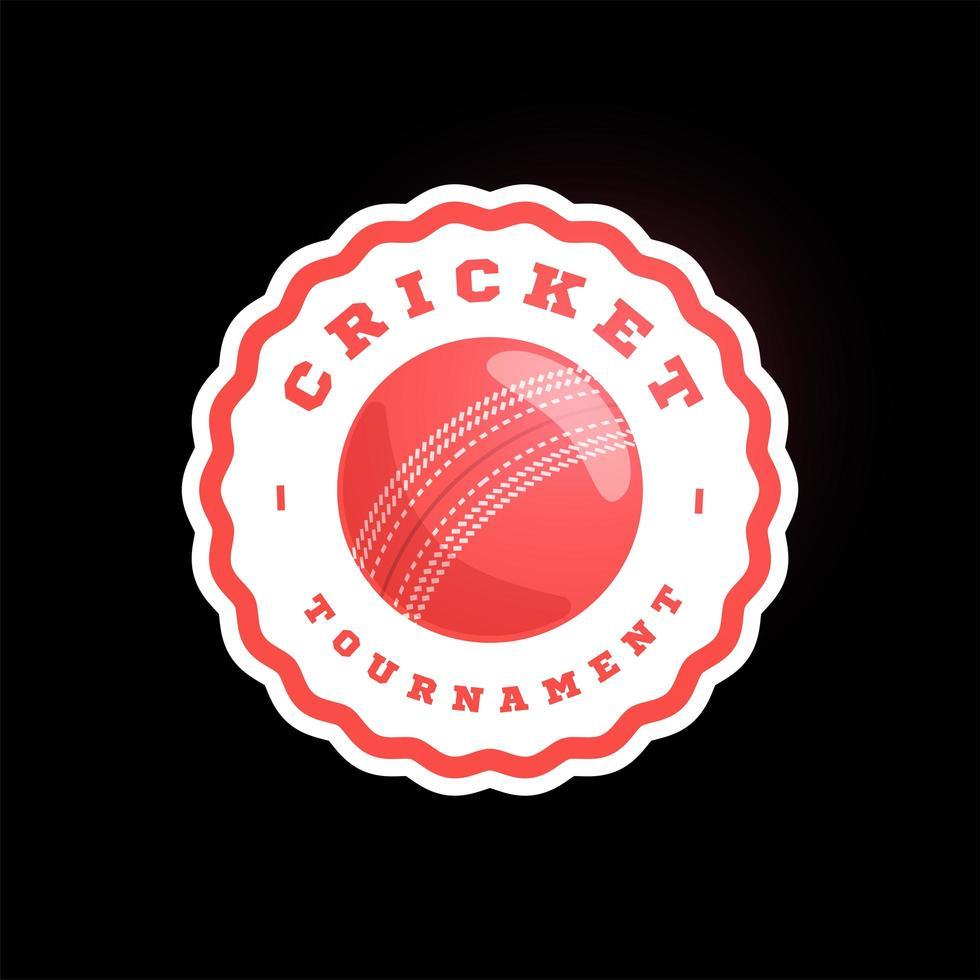 logotipo de vector de círculo de cricket. tipografía profesional moderna deporte estilo retro vector emblema y plantilla de diseño de logotipo. logo colorido de voleibol