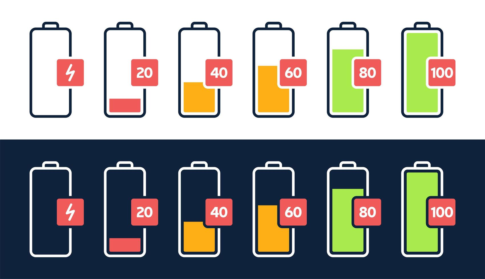 Energy Level Icon Charge Load Phone Battery Indicator Smartphone Power Level Accumulator Energy Empty And Full Status Icons Set Stages Of Gadget Recharging Charging Energy Percent Download Free Vectors Clipart Graphics