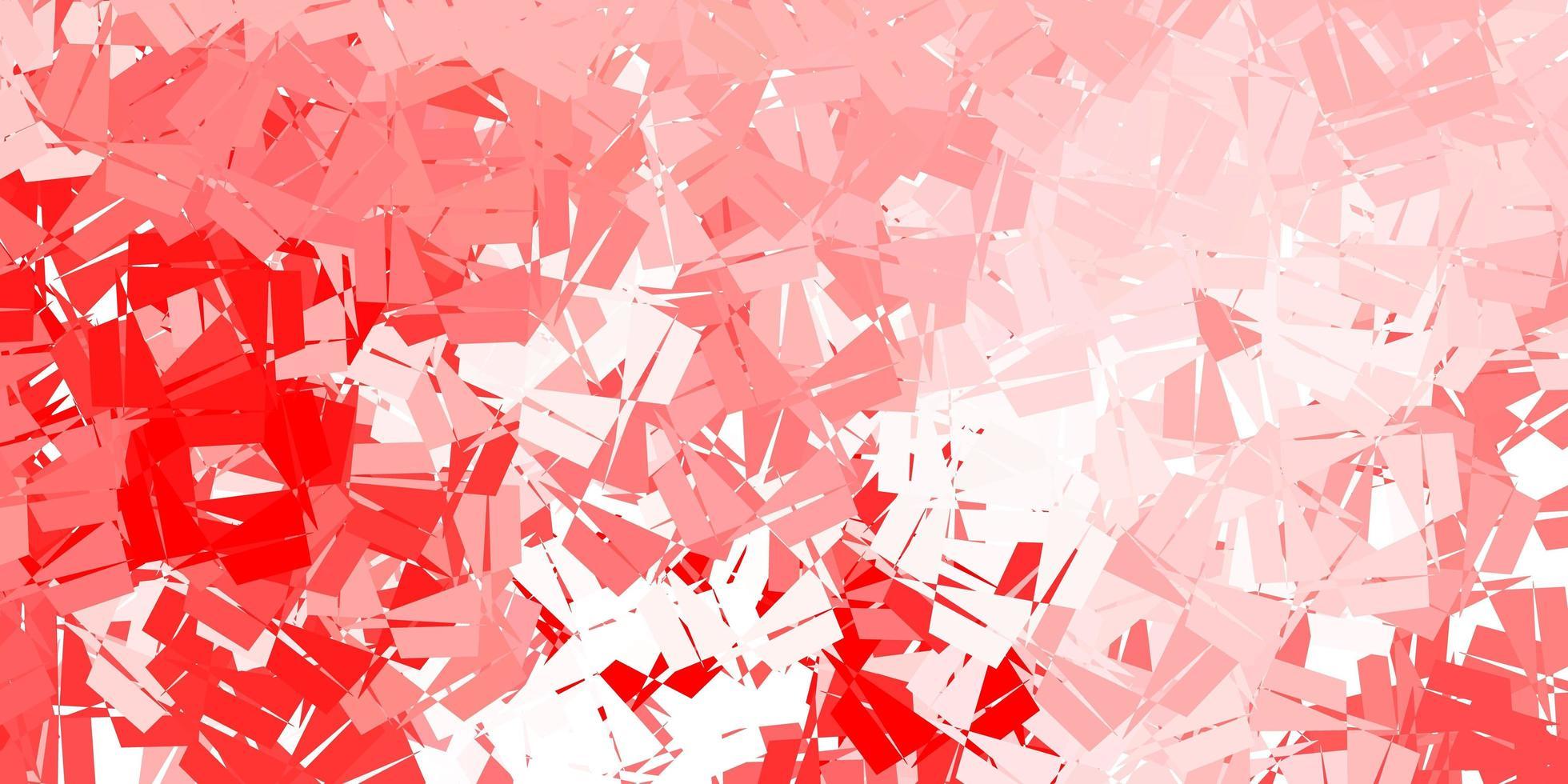 patrón de triángulo abstracto vector rojo claro.