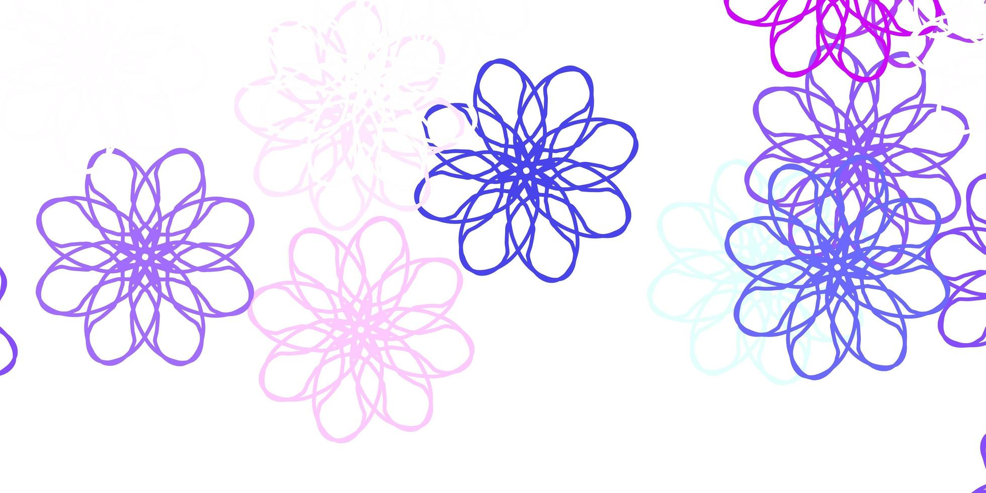 Light Blue, Red vector natural backdrop with flowers.