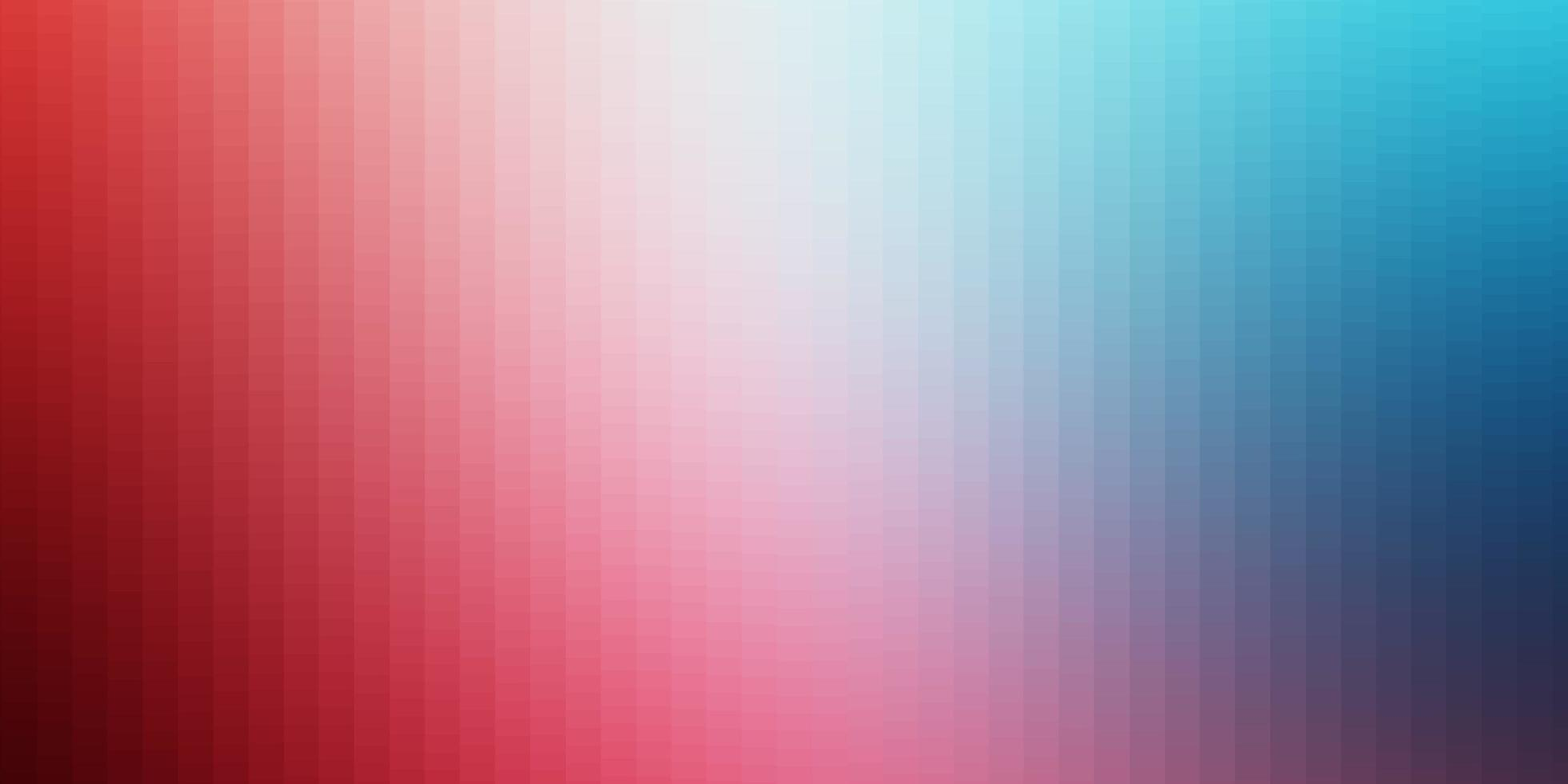 Light Blue, Red vector background with rectangles.