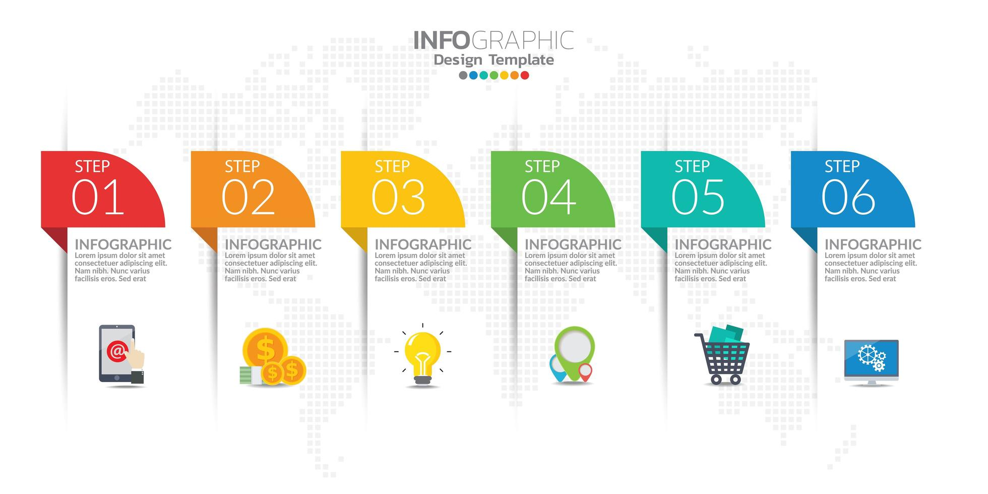Infographic elements for content, diagram, flowchart, steps, parts, timeline, workflow, chart. vector