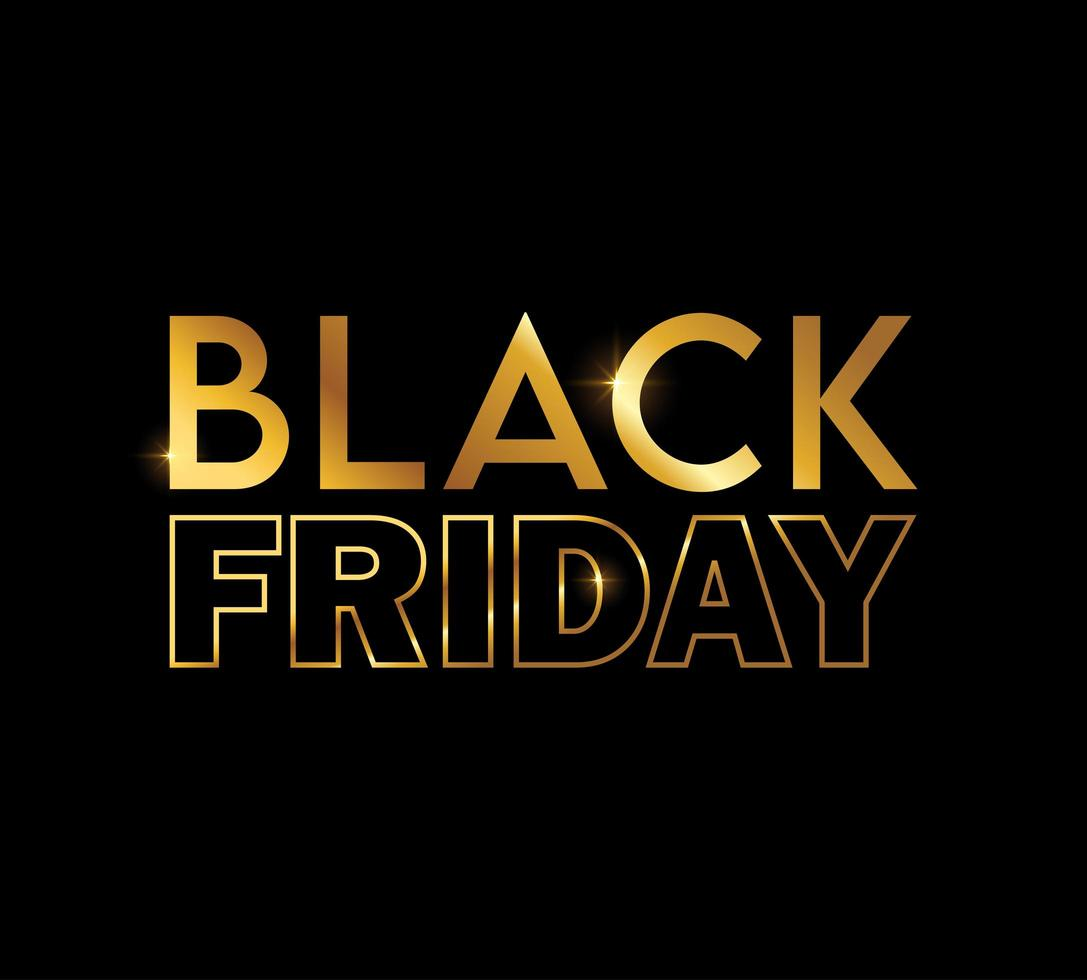 Golden Black Friday Sign vector