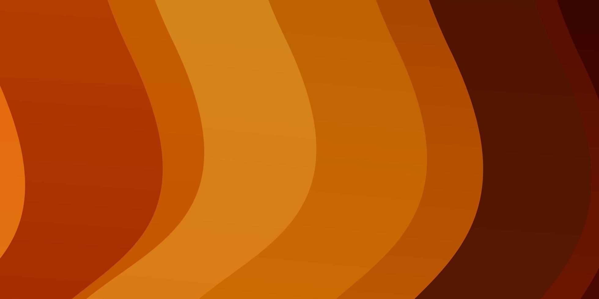 Telón de fondo de vector naranja claro con curvas.