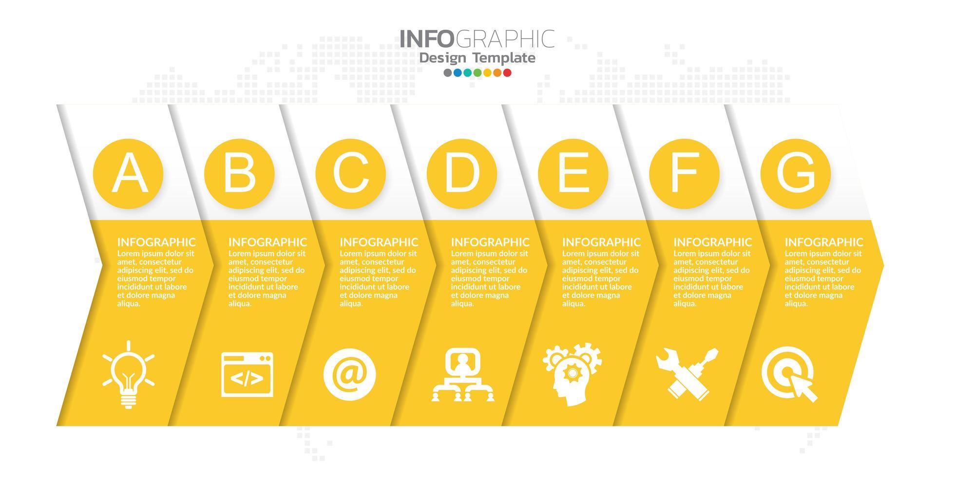 elementos infográficos para contenido, diagrama, diagrama de flujo, pasos, partes, línea de tiempo, flujo de trabajo, gráfico. vector