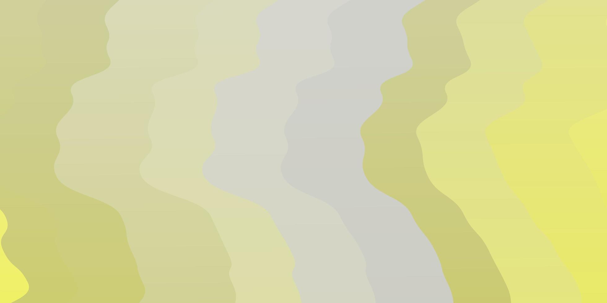plantilla de vector amarillo claro con líneas torcidas.