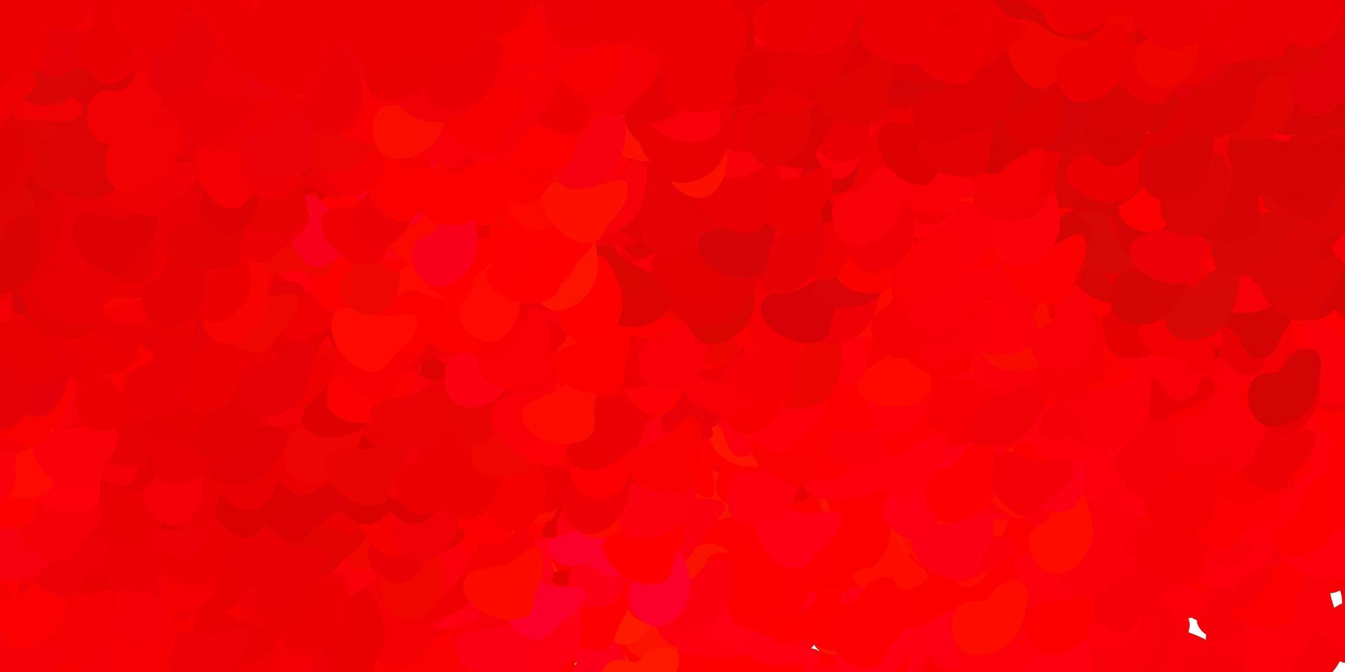 Dark red vector background with random forms.