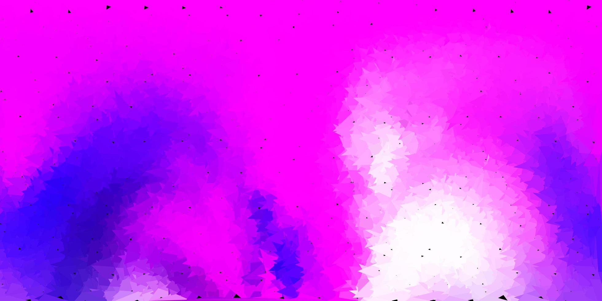 Plantilla de triángulo abstracto de vector púrpura claro, rosa.
