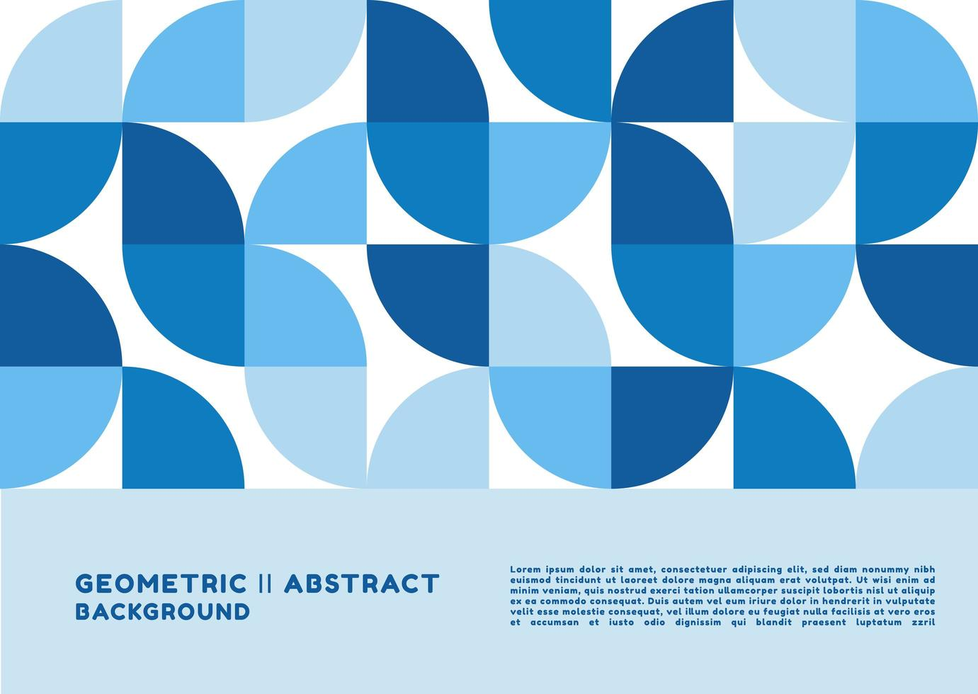 Circle geometric shape background vector
